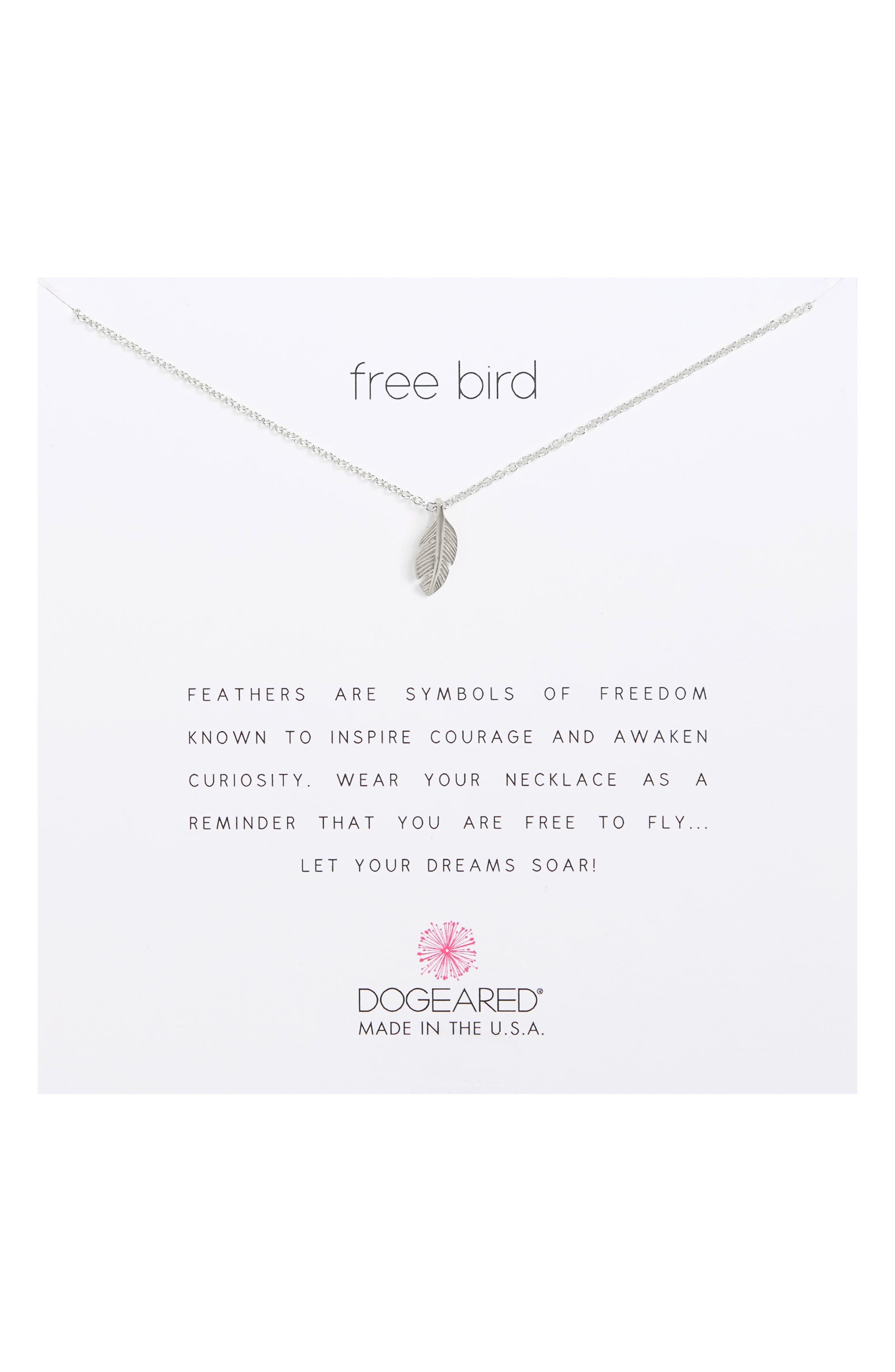 Reminder - Free Bird Pendant Necklace,                         Main,                         color,