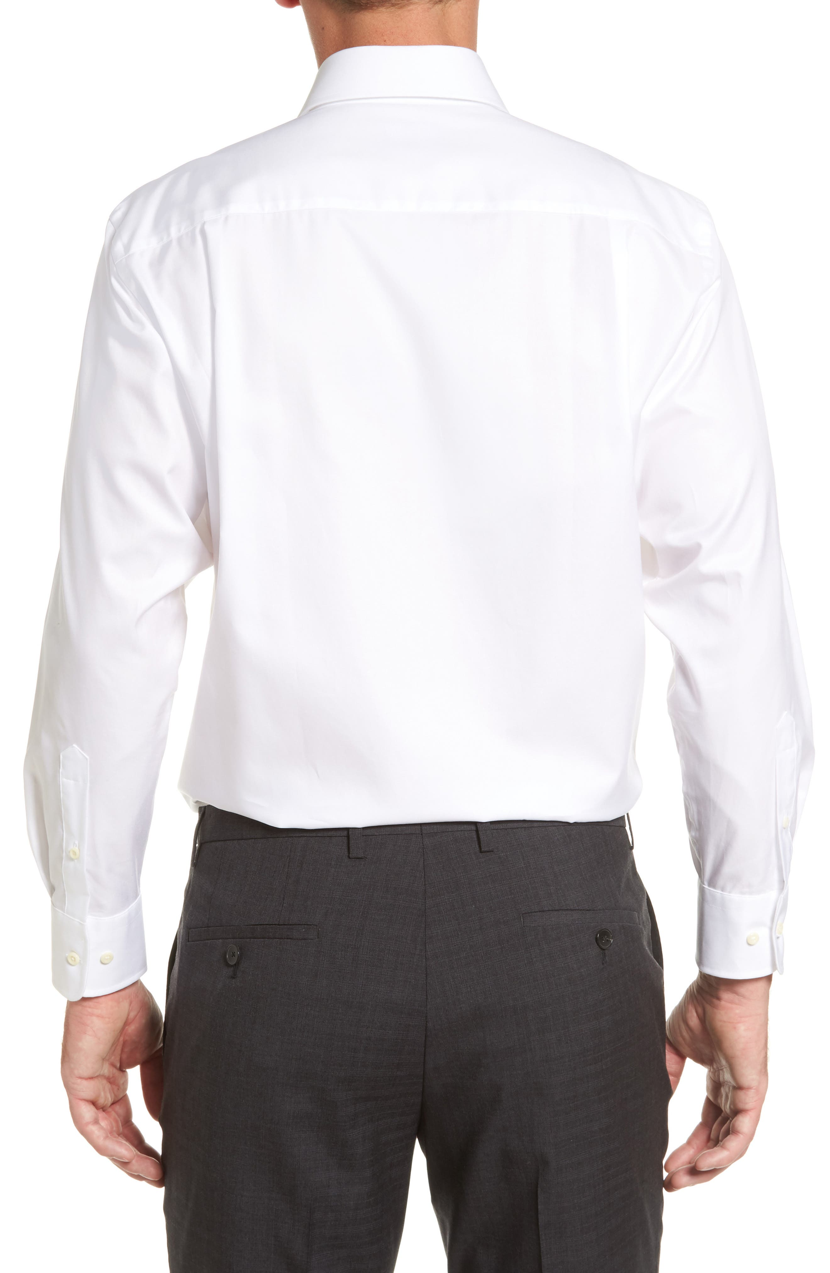 Regular Fit Solid Dress Shirt,                             Alternate thumbnail 2, color,                             WHITE