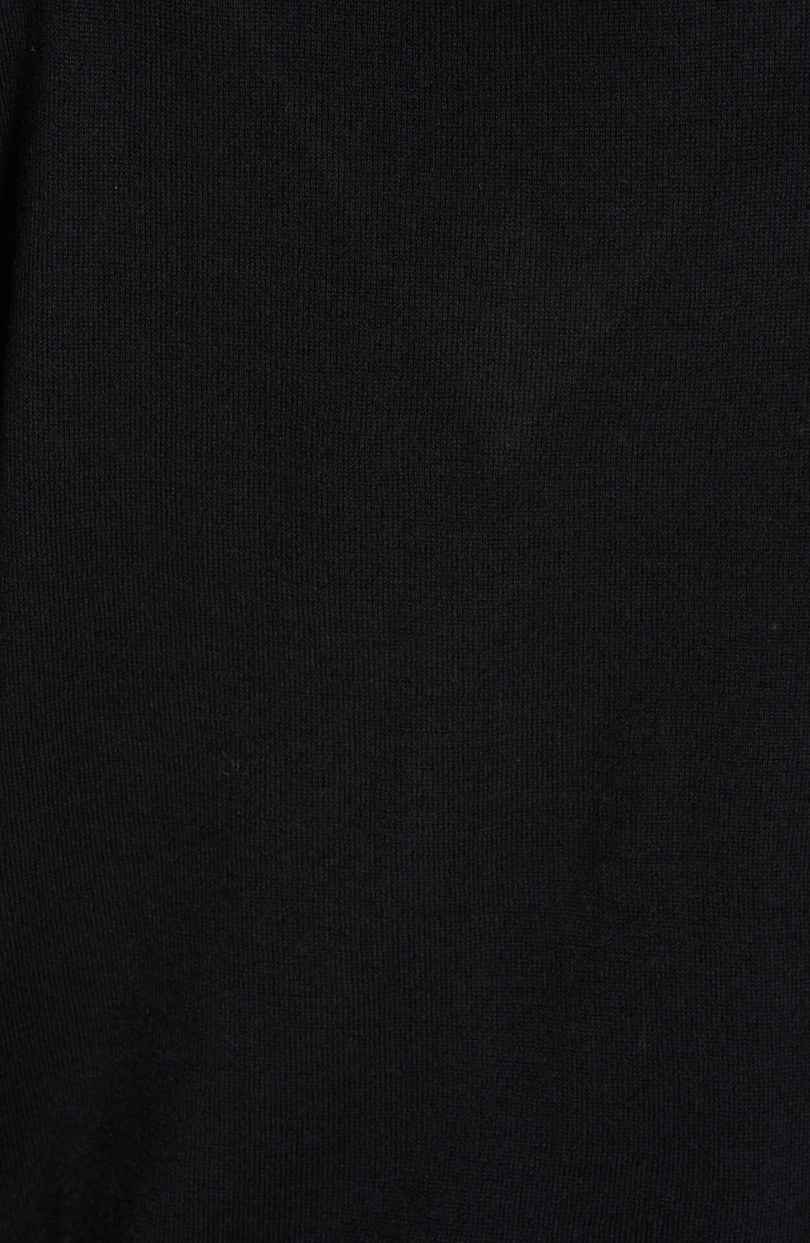 Lace Tie Neck Sweater,                             Alternate thumbnail 5, color,                             001