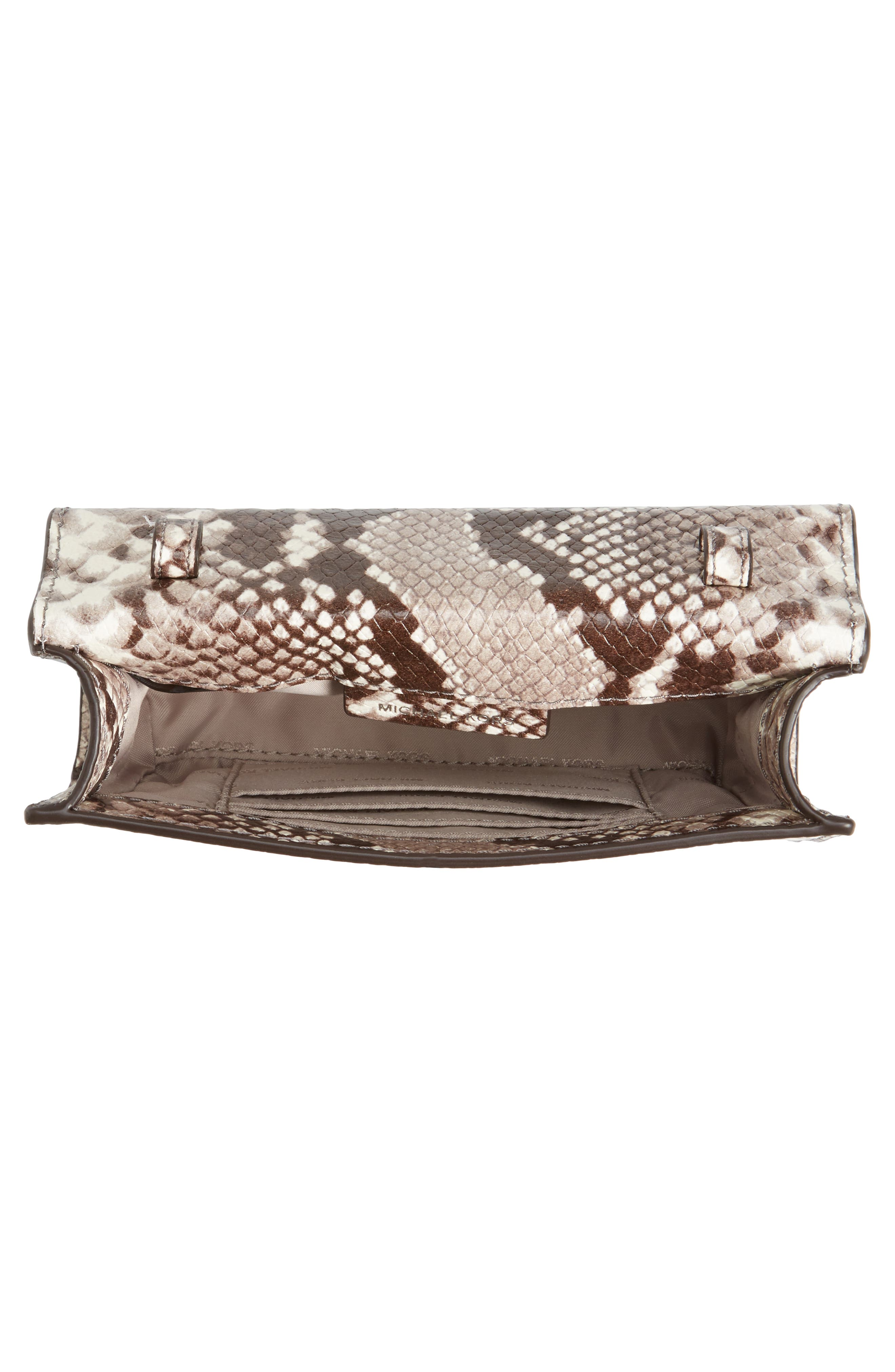 Ruby Leather Clutch,                             Alternate thumbnail 4, color,                             269