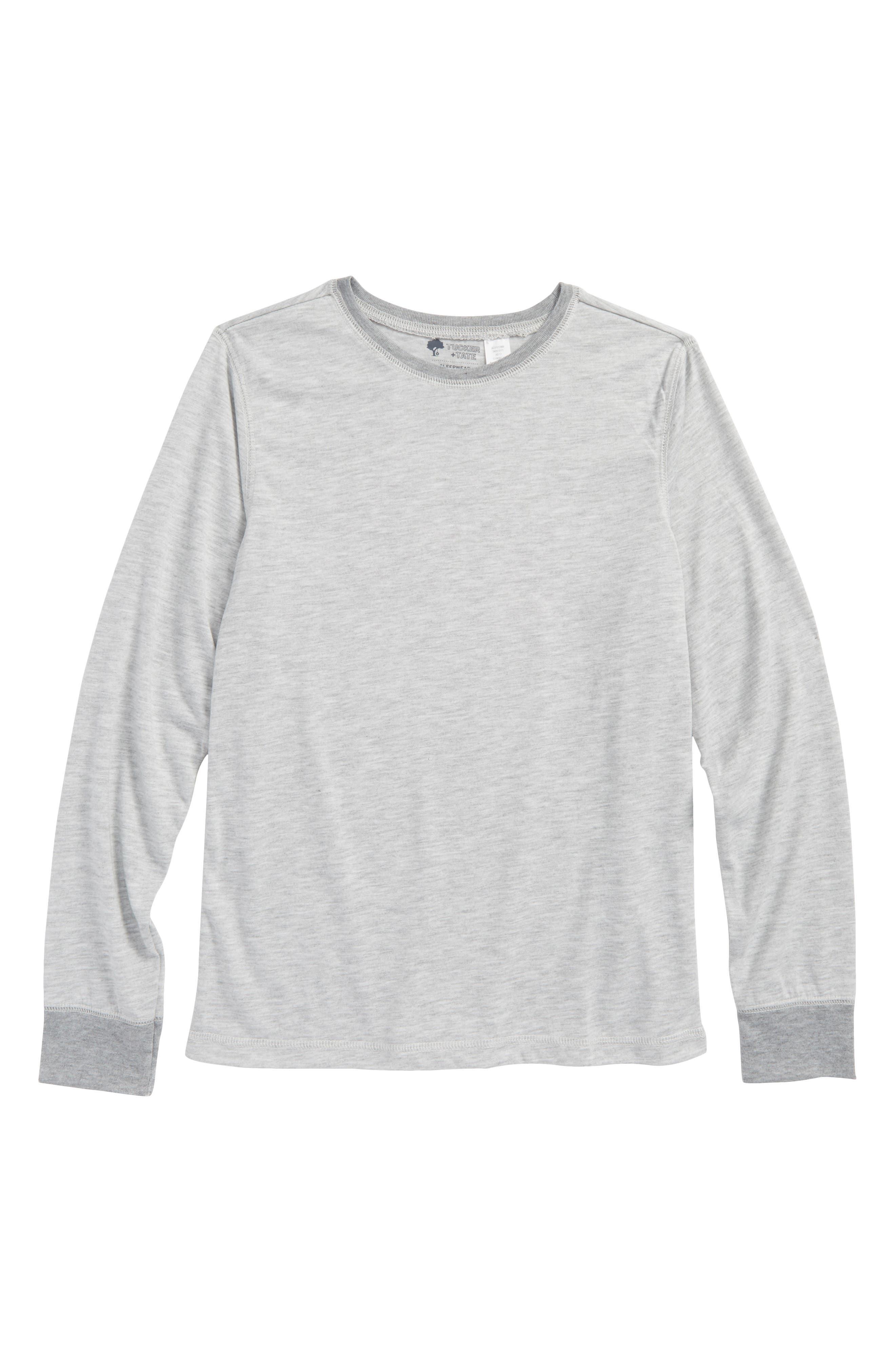 Tucker & Tate Long Sleeve Sleep T-Shirt,                             Main thumbnail 1, color,                             GREY ASH HEATHER