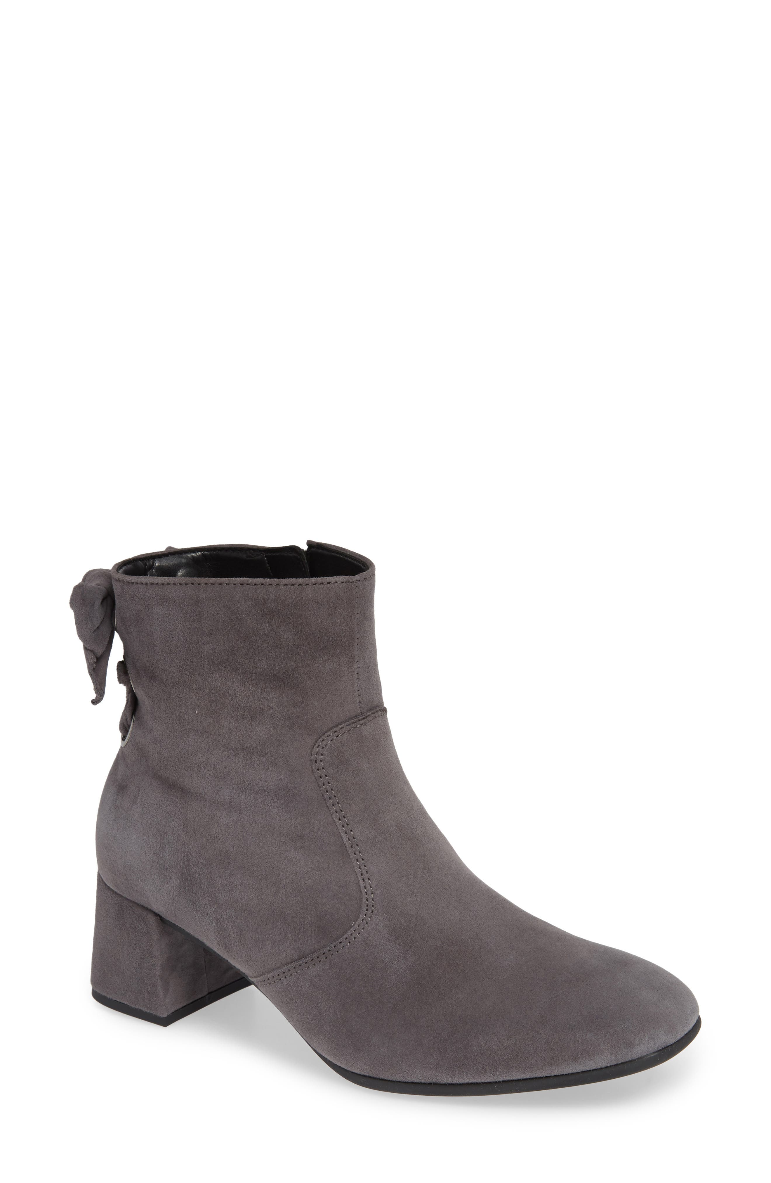 Gabor Bow Back Bootie, Grey