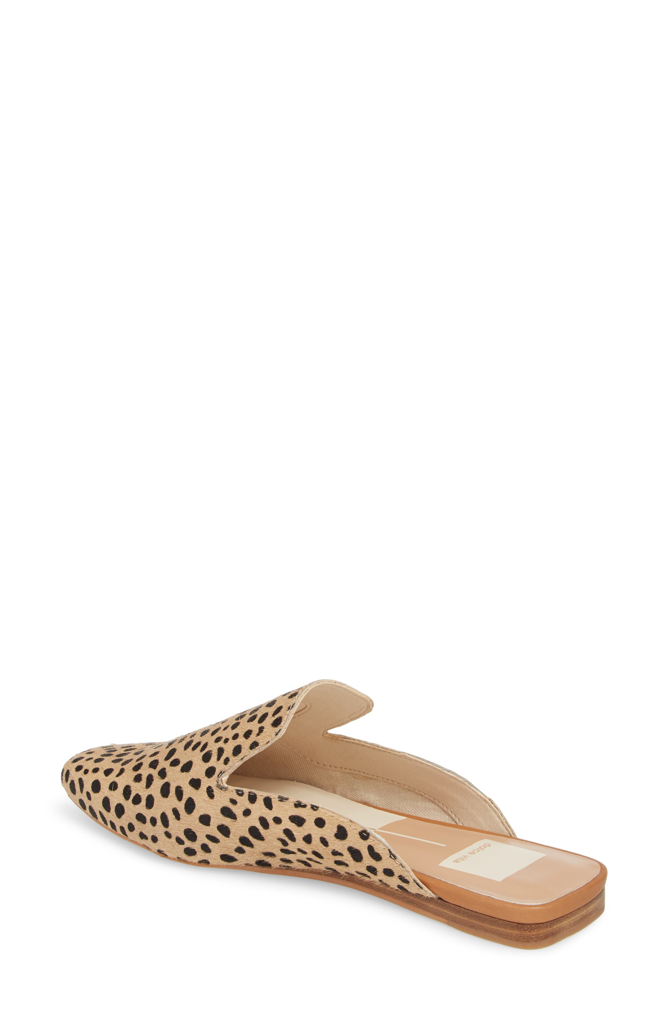 Brie Flat Mule,                             Alternate thumbnail 2, color,                             LEOPARD CALF HAIR