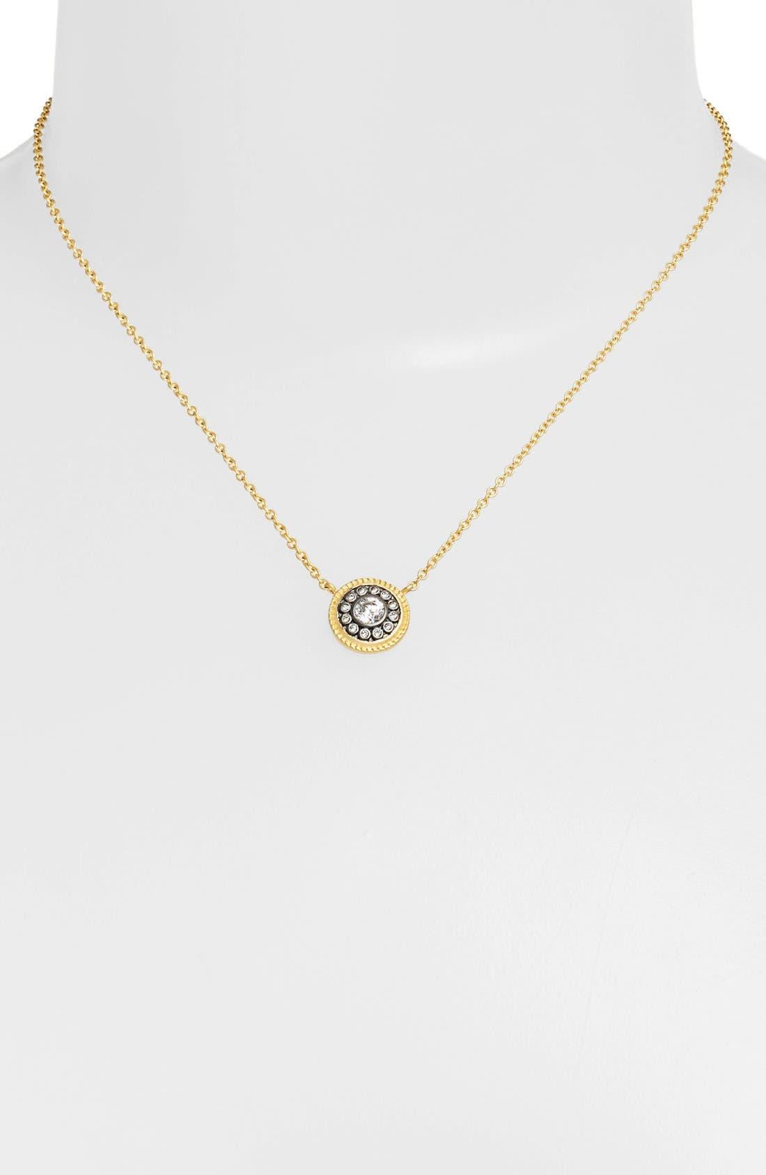 'Hamptons' Nautical Button Pendant Necklace,                             Alternate thumbnail 4, color,                             GOLD/ GUNMETAL