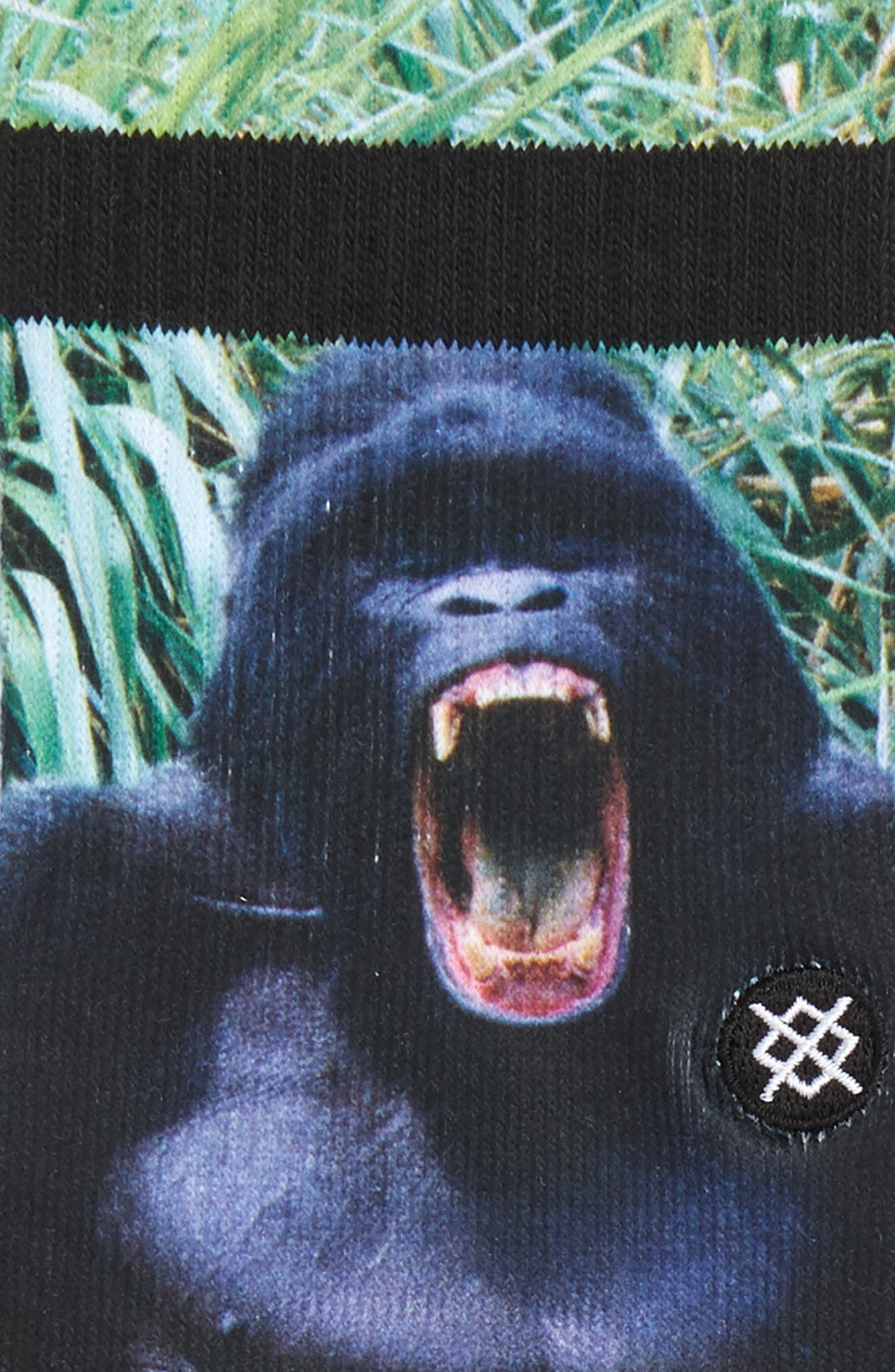 Gorilla Socks,                             Alternate thumbnail 2, color,                             BLACK
