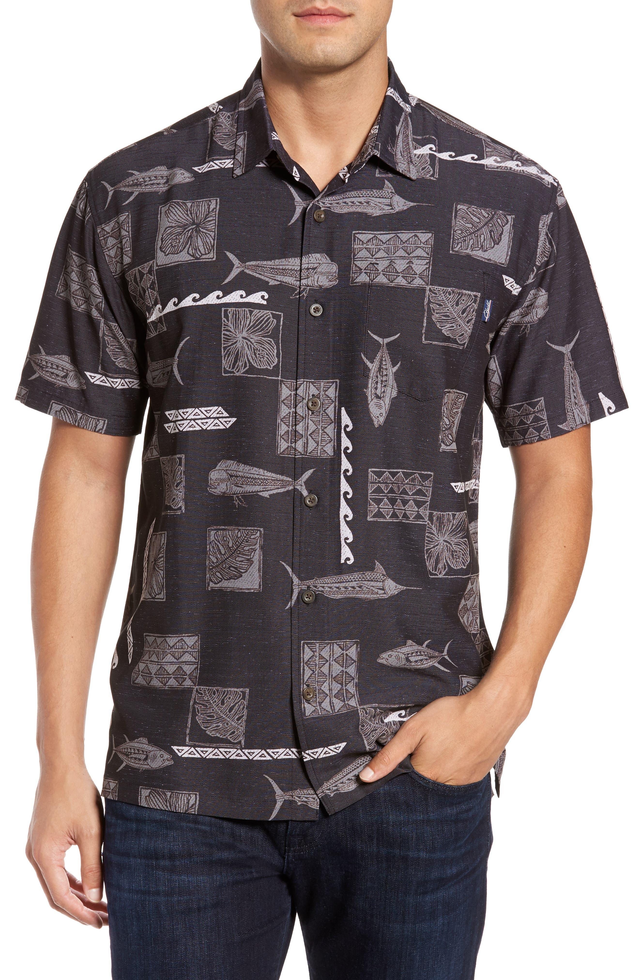 Kua Bay Print Sport Shirt,                         Main,                         color, 001