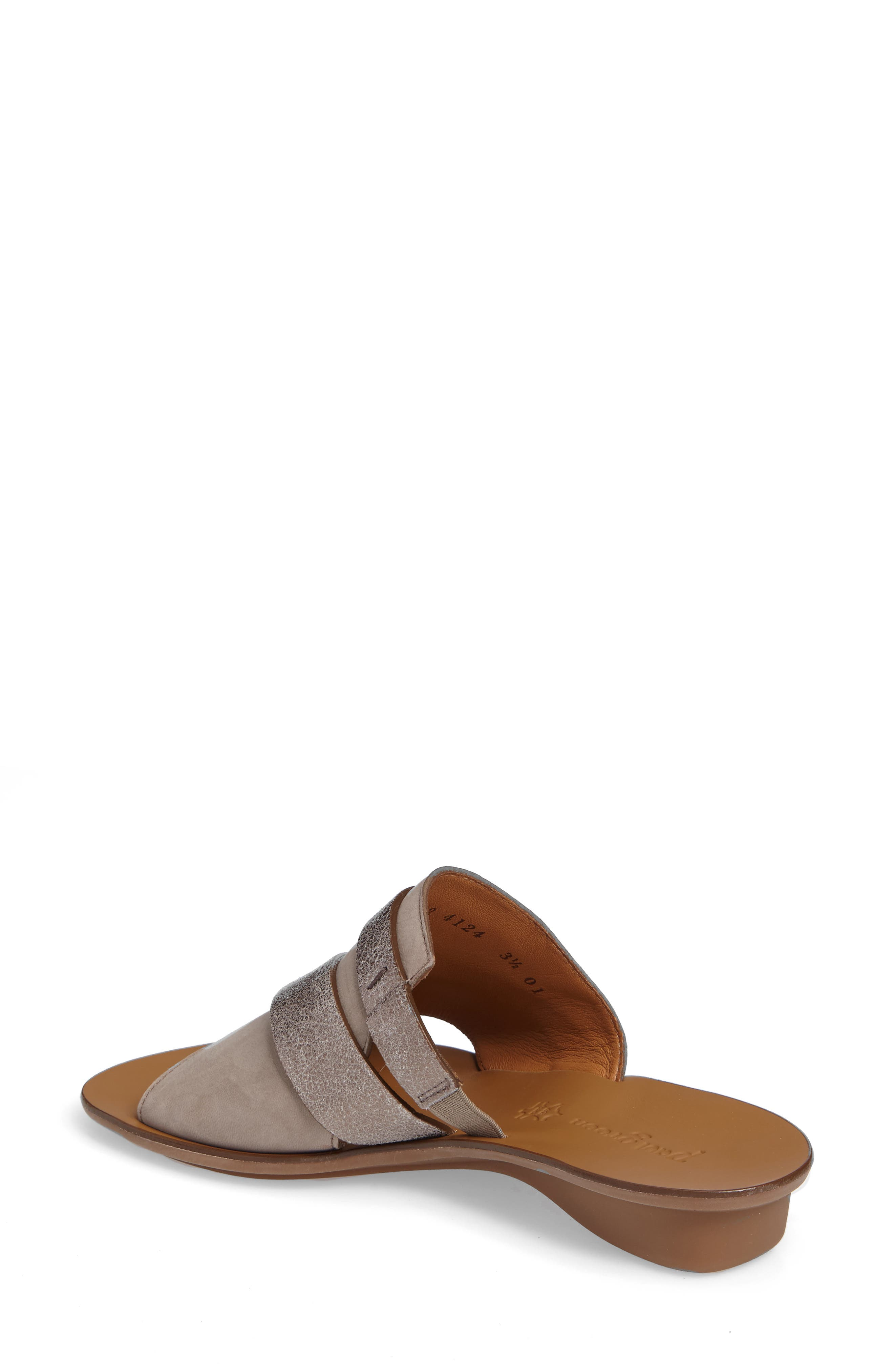 'Bayside' Leather Sandal,                             Alternate thumbnail 2, color,                             GREY