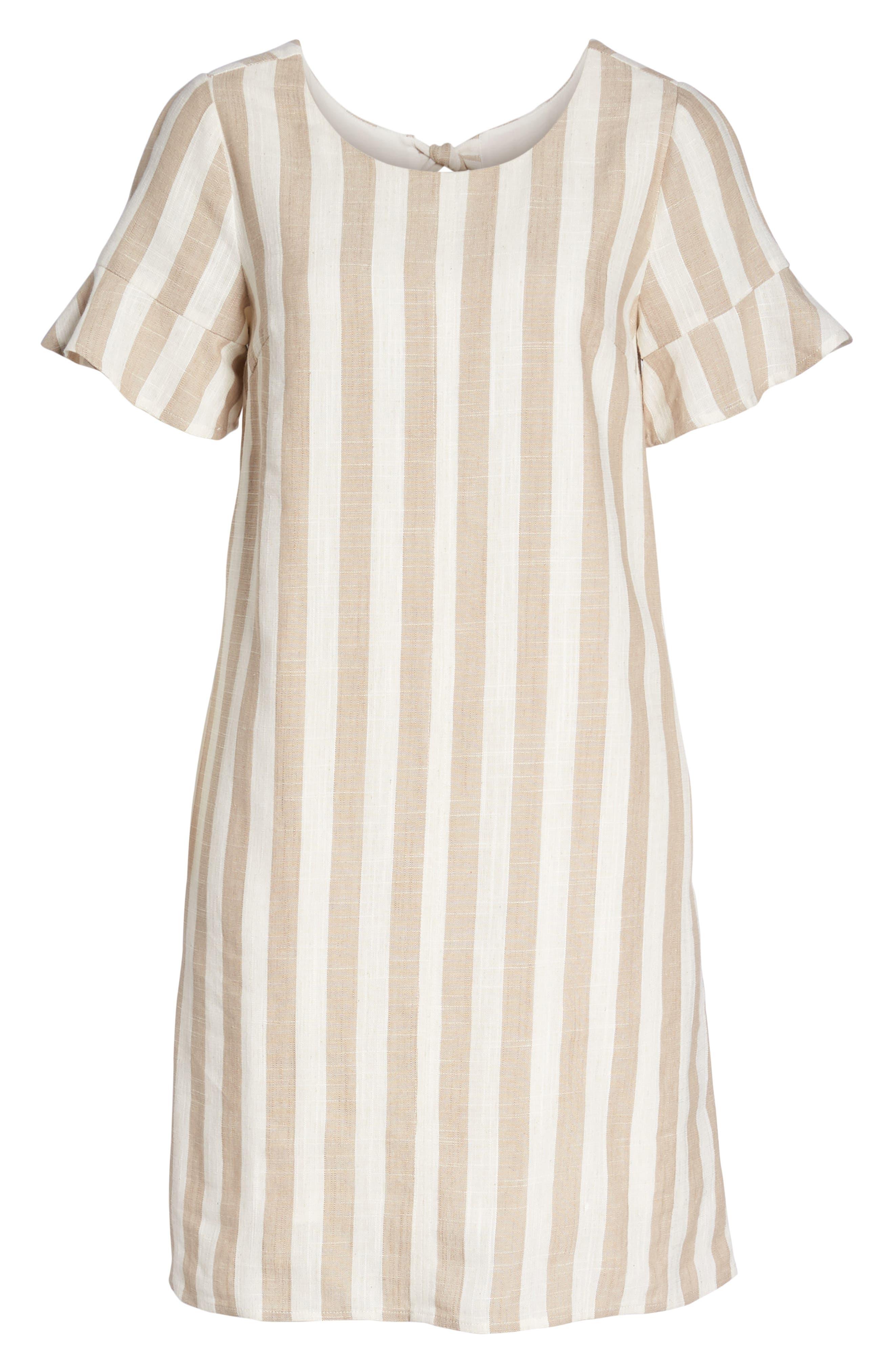 Back Tie Detail Shift Dress,                             Alternate thumbnail 7, color,                             250