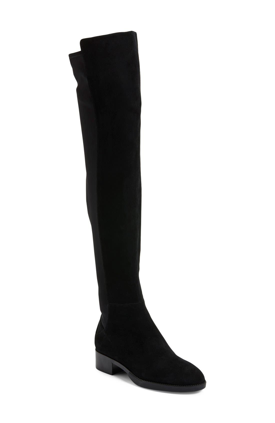 TORY BURCH 'Caitlin' Over the Knee Boot, Main, color, 001