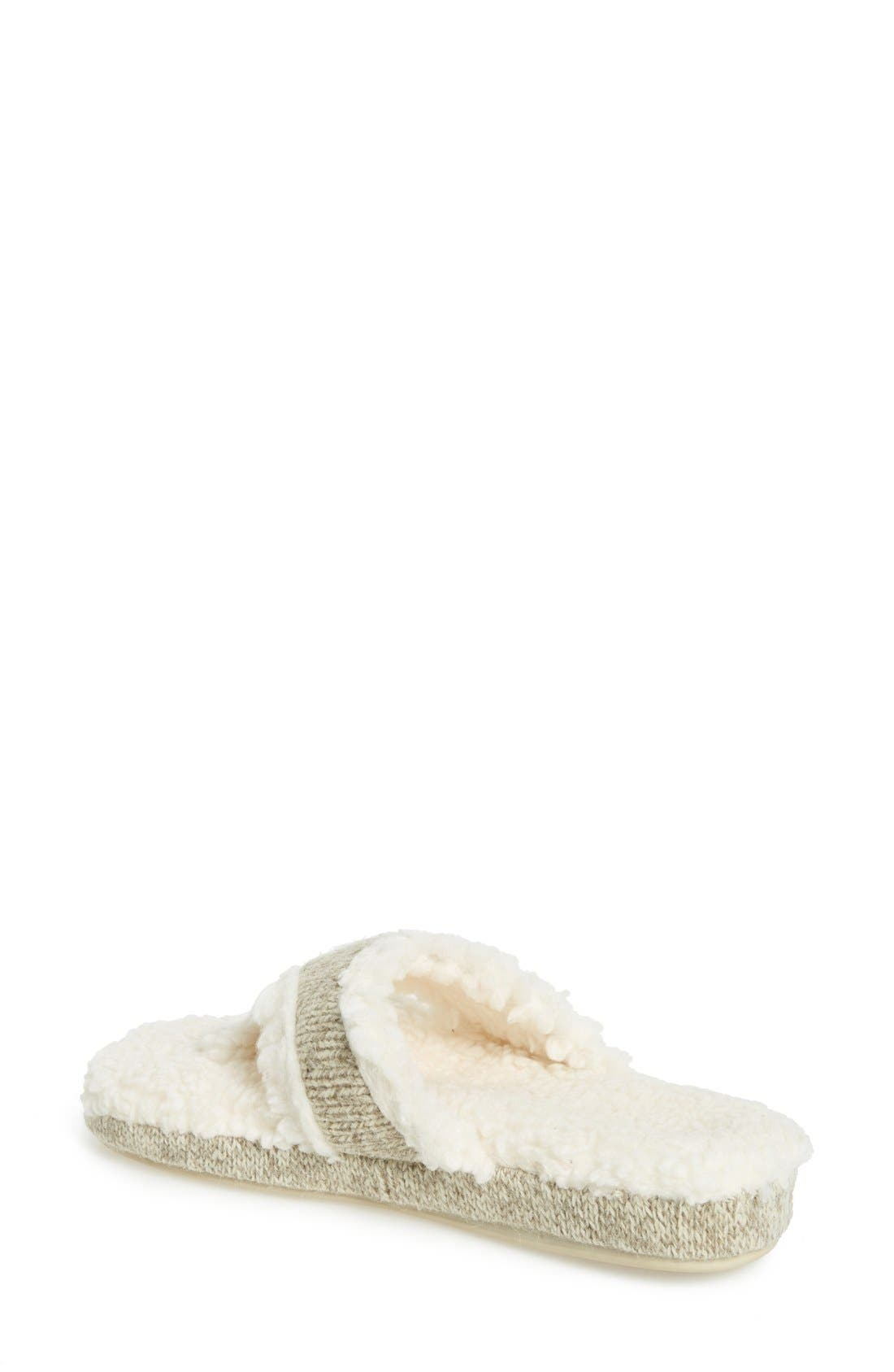 ACORN,                             'Ragg' Spa Slipper,                             Alternate thumbnail 2, color,                             GREY FABRIC