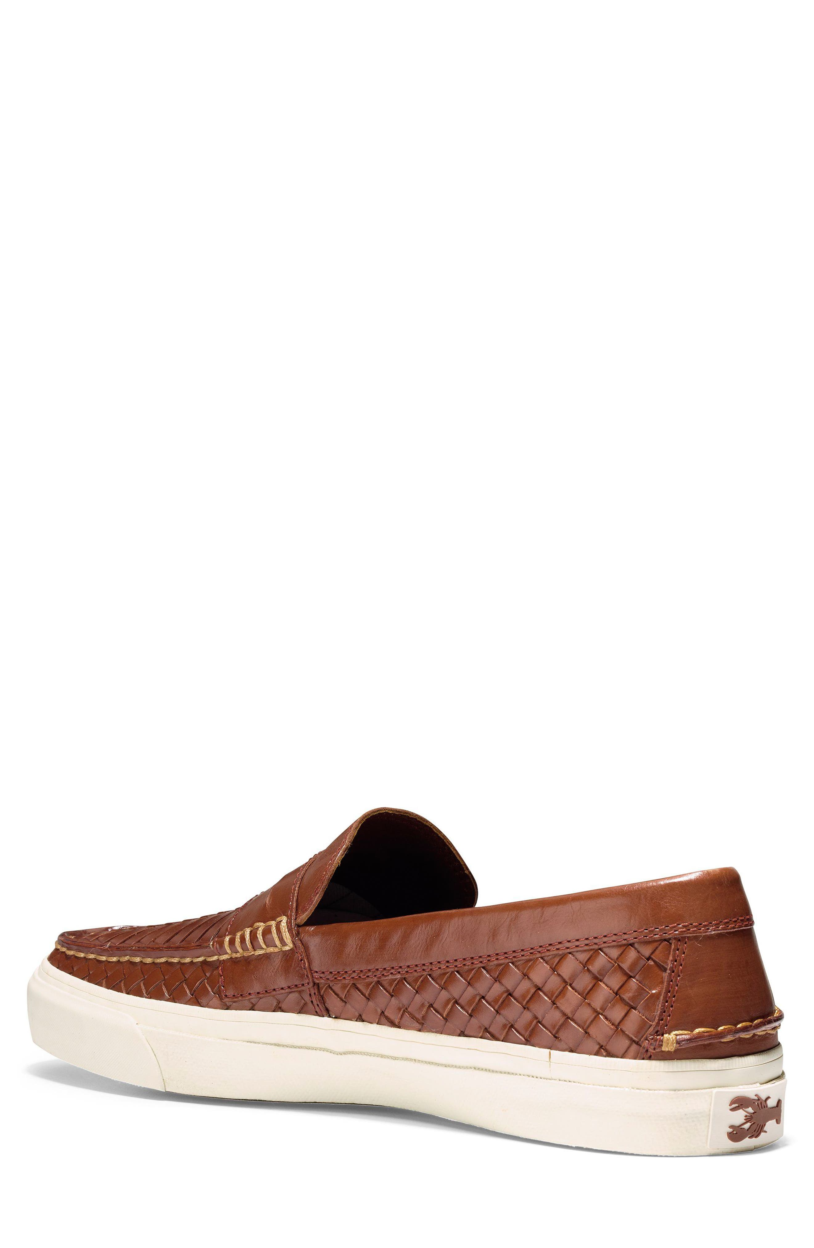 Pinch Weekend LX Huarache Loafer,                             Alternate thumbnail 2, color,                             WOODBURY WOVEN BURNISH