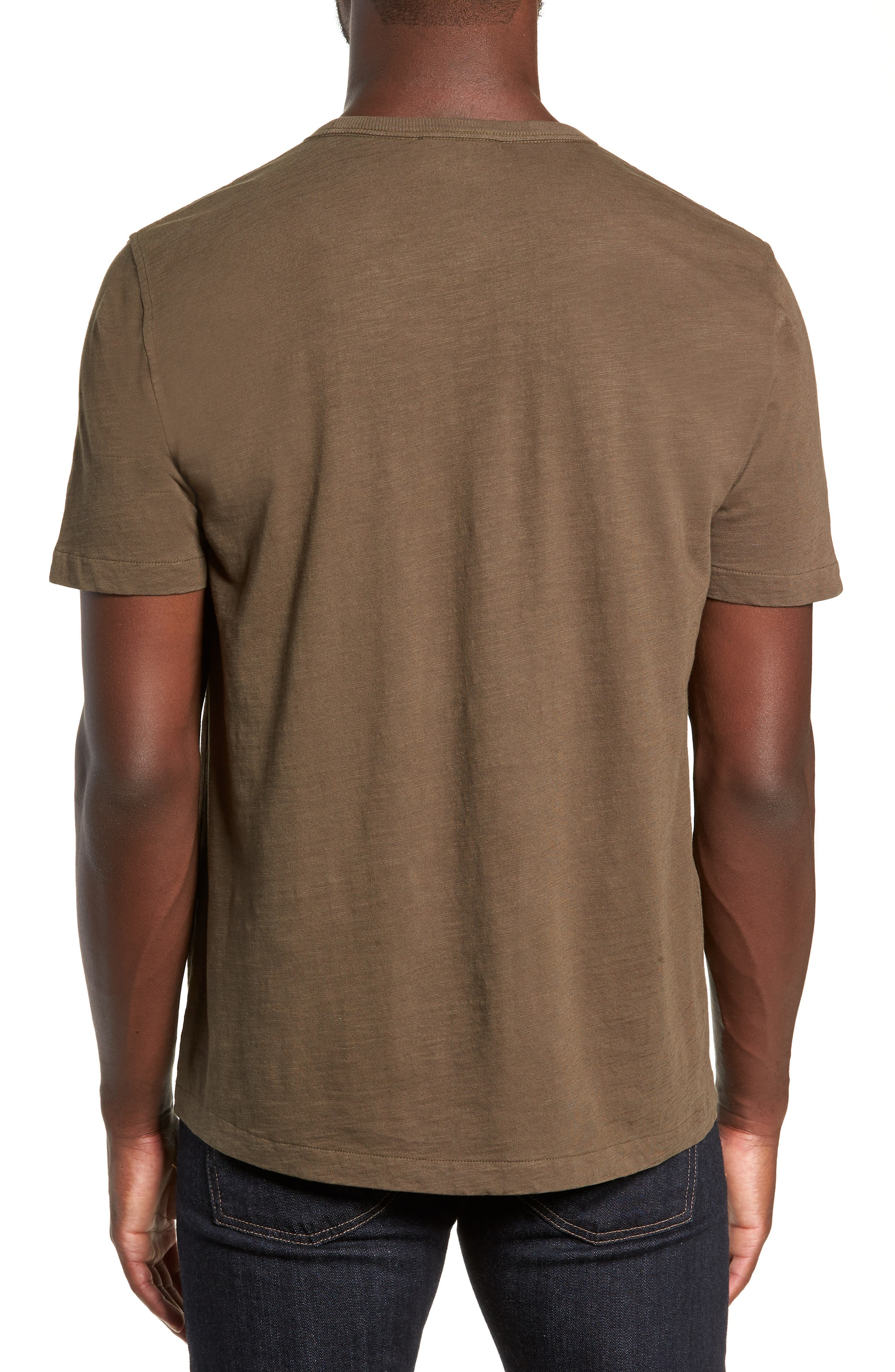 Slubbed Pocket T-Shirt,                             Alternate thumbnail 2, color,                             GREEN