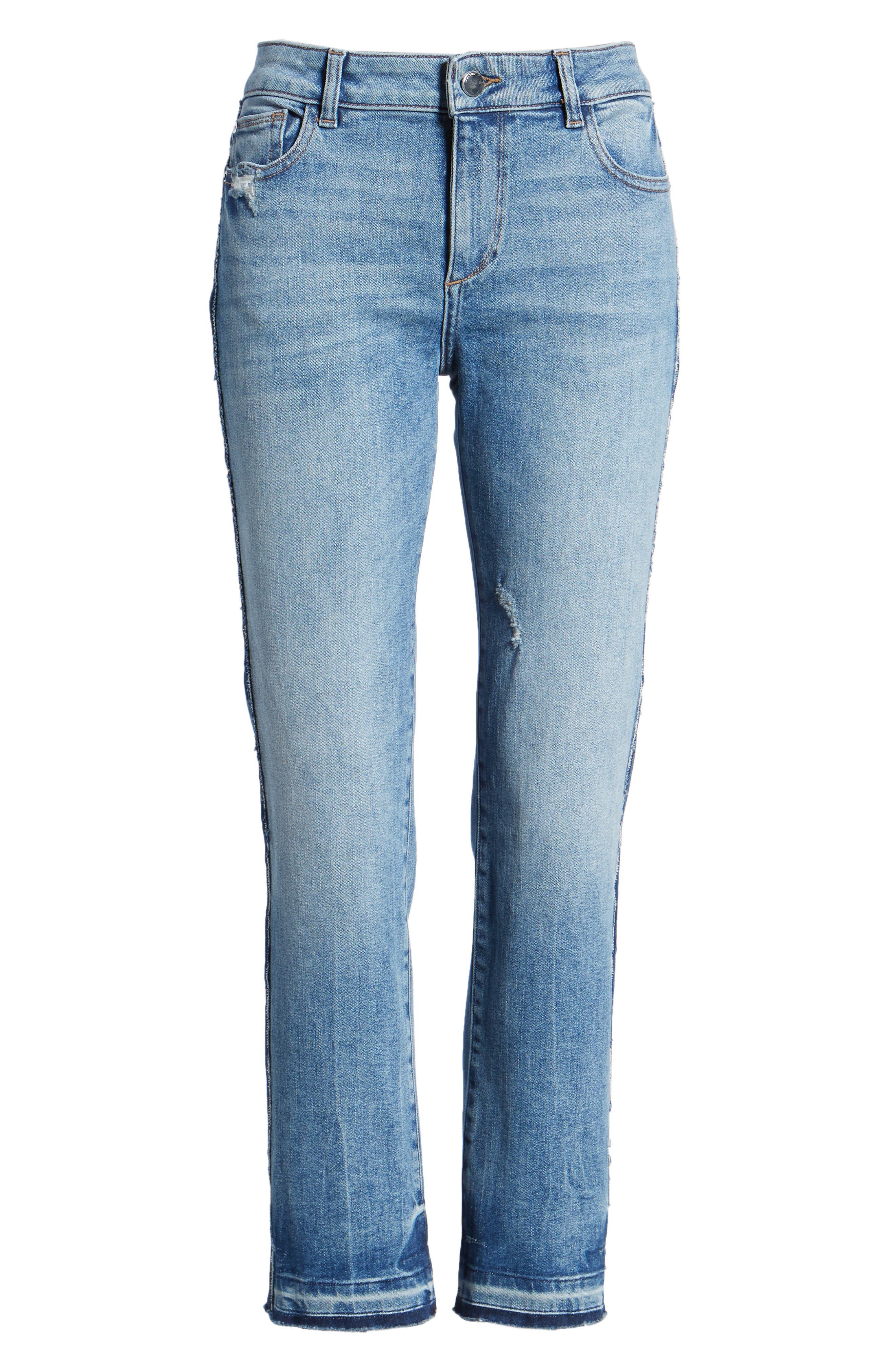 Mara Instasculpt Ankle Straight Leg Jeans,                             Alternate thumbnail 7, color,                             425