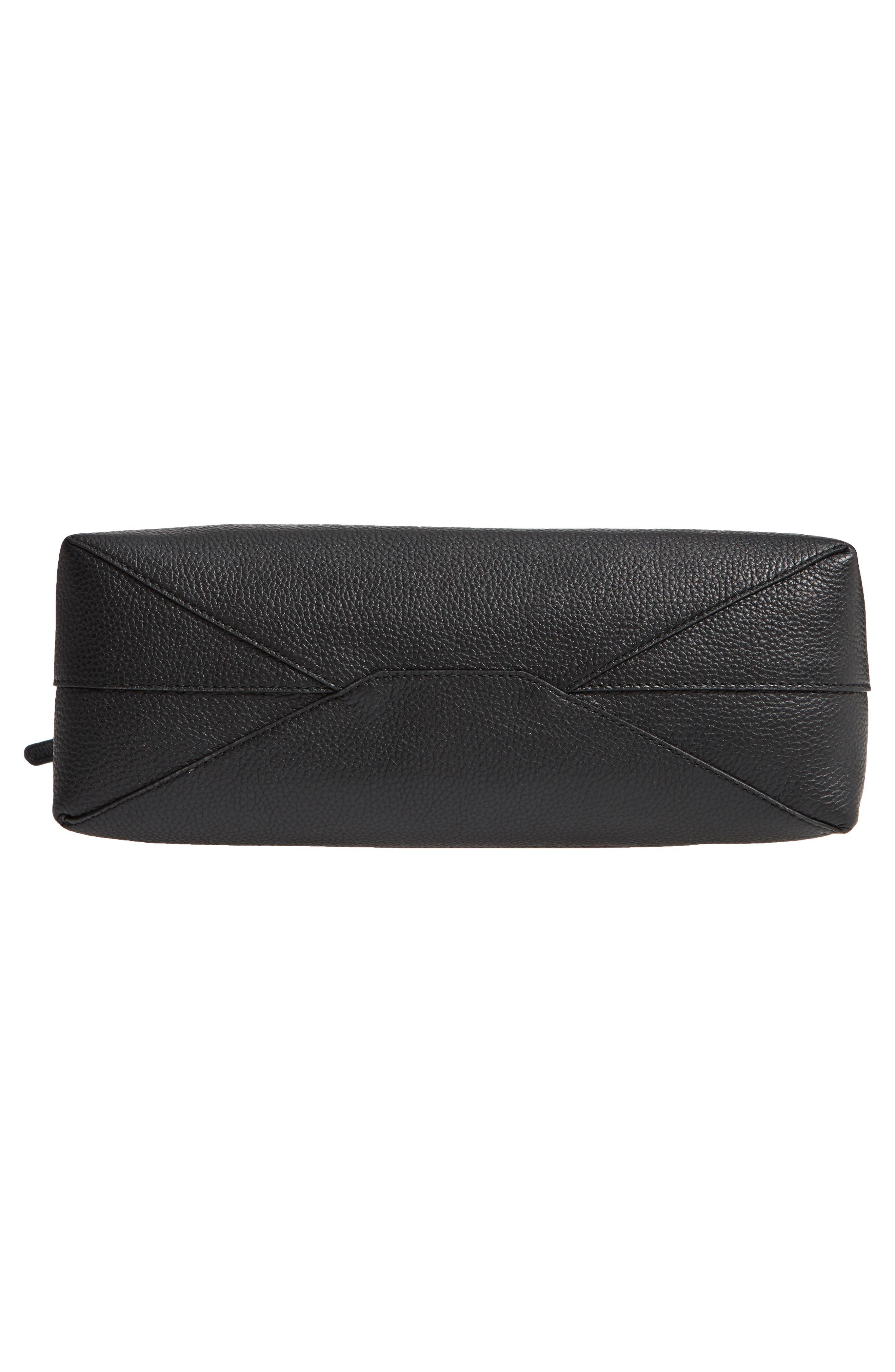 Medium Leather Hobo,                             Alternate thumbnail 6, color,                             BLACK