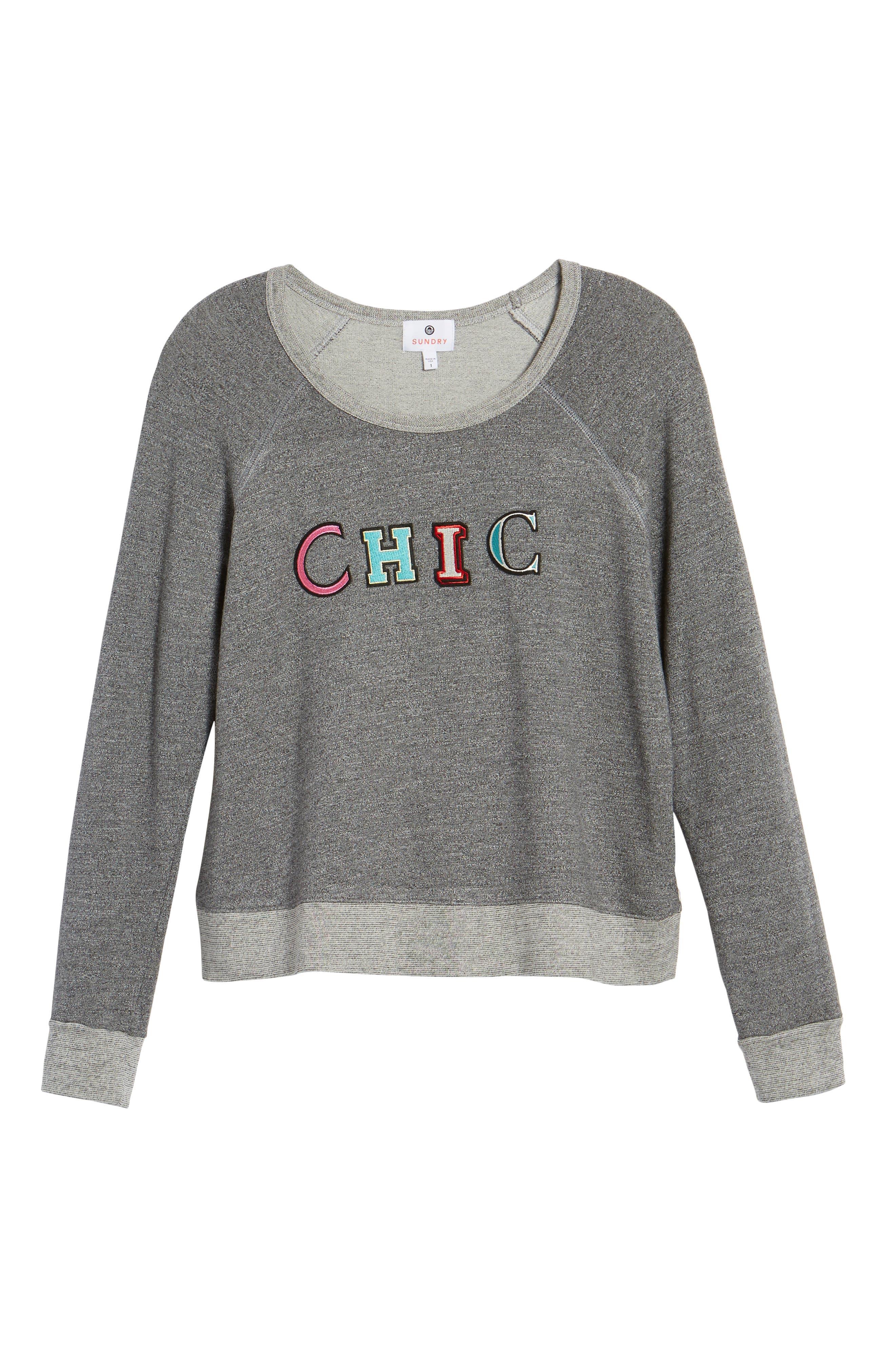 Chic Crop Sweatshirt,                             Alternate thumbnail 6, color,                             039