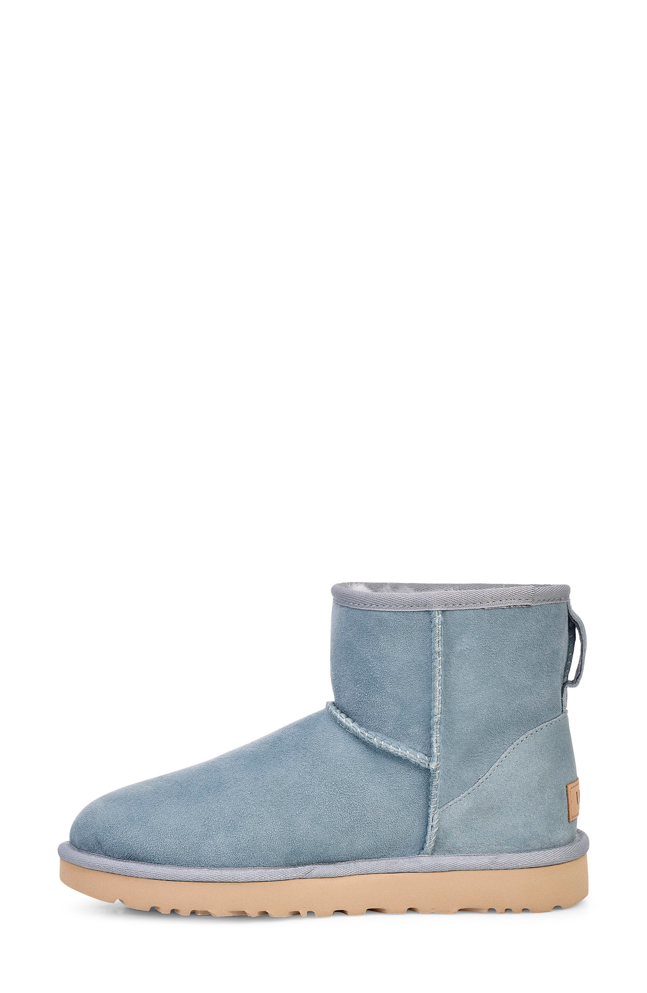 'Classic Mini II' Genuine Shearling Lined Boot,                             Alternate thumbnail 6, color,                             SUCCULENT SUEDE