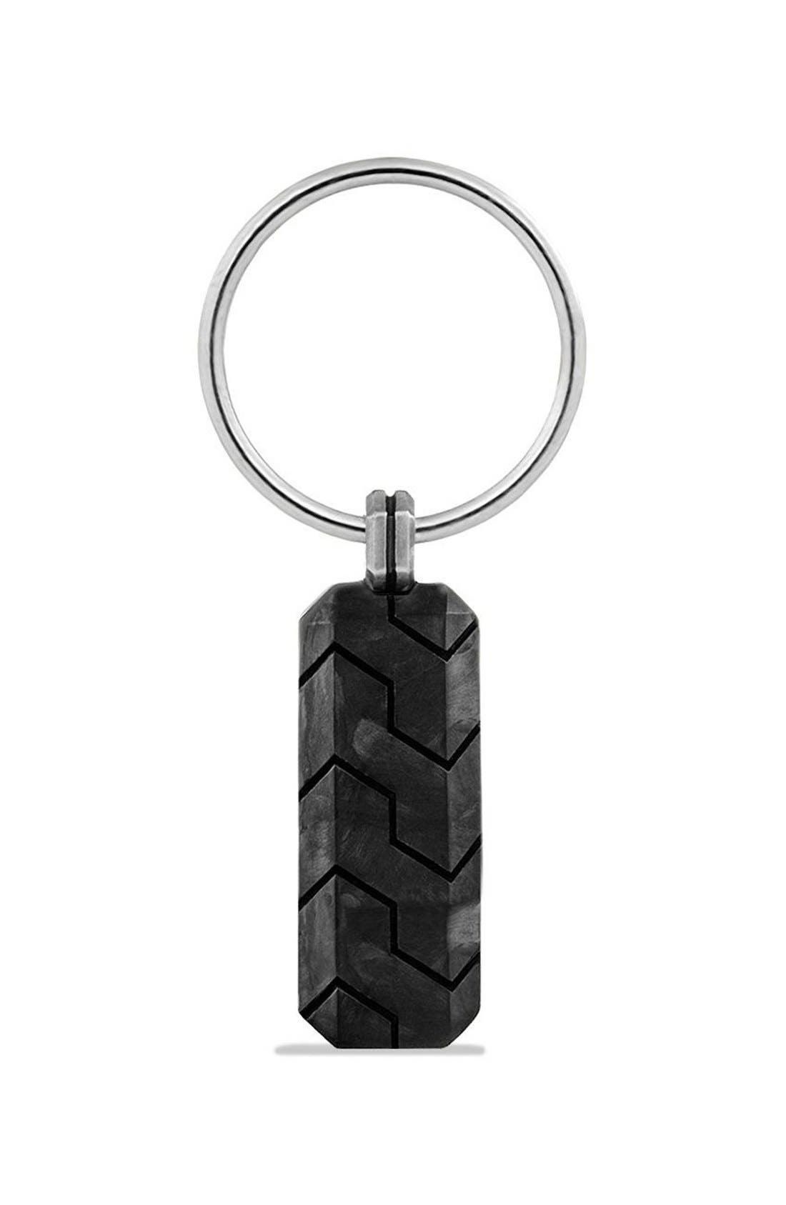 'Forged Carbon' Key Chain,                             Alternate thumbnail 3, color,