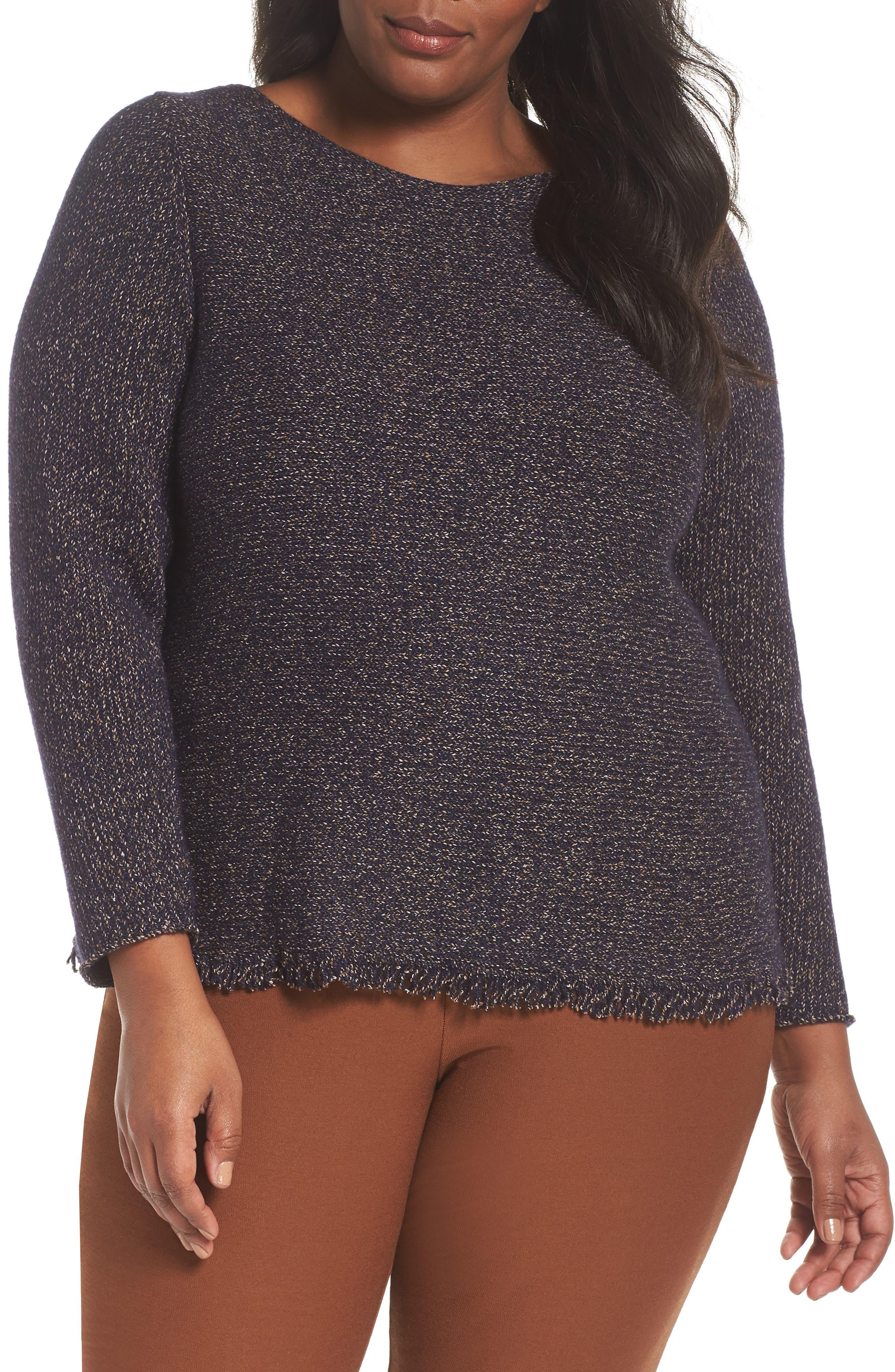 Fringe Hem Sweater,                         Main,                         color, 419