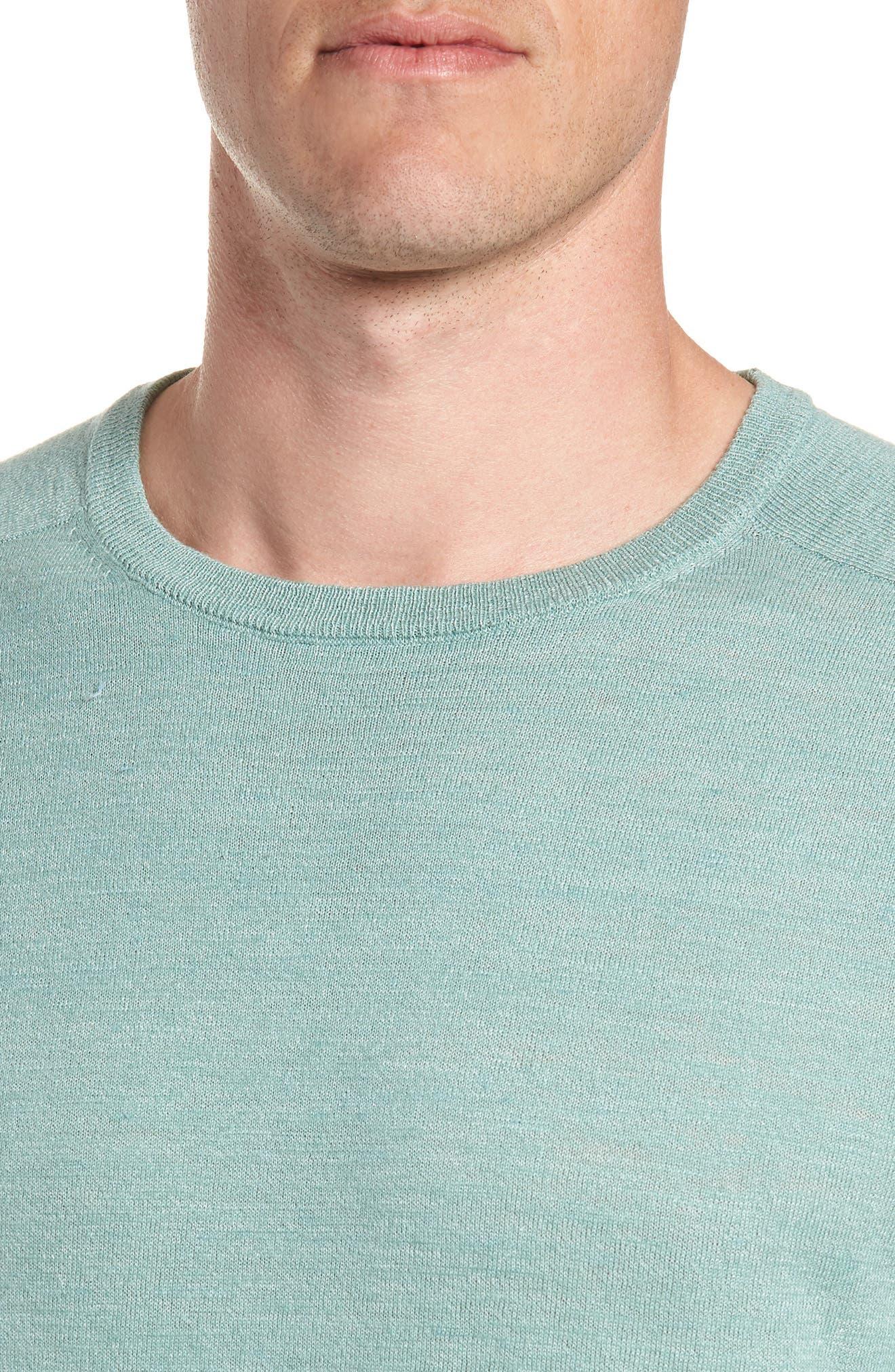 Cotton Blend Crewneck Sweater,                             Alternate thumbnail 14, color,