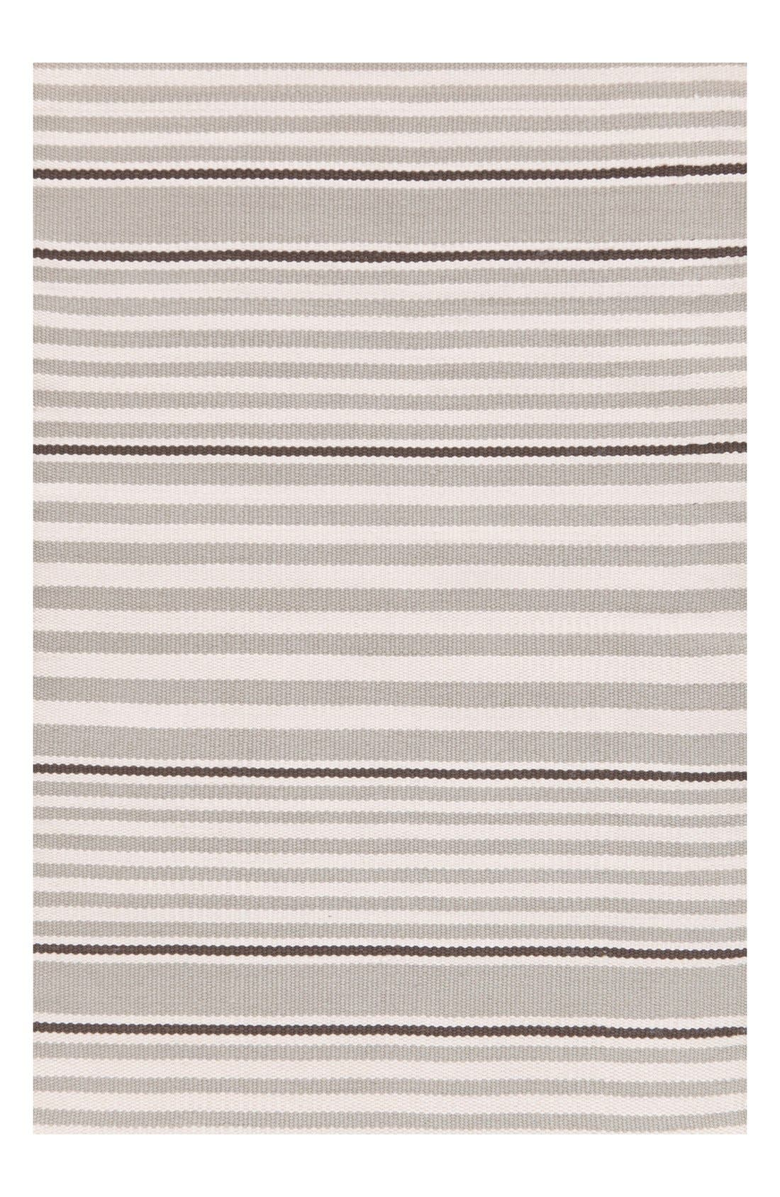 'Rugby Stripe' Indoor/Outdoor Rug,                             Main thumbnail 1, color,                             PLATINUM