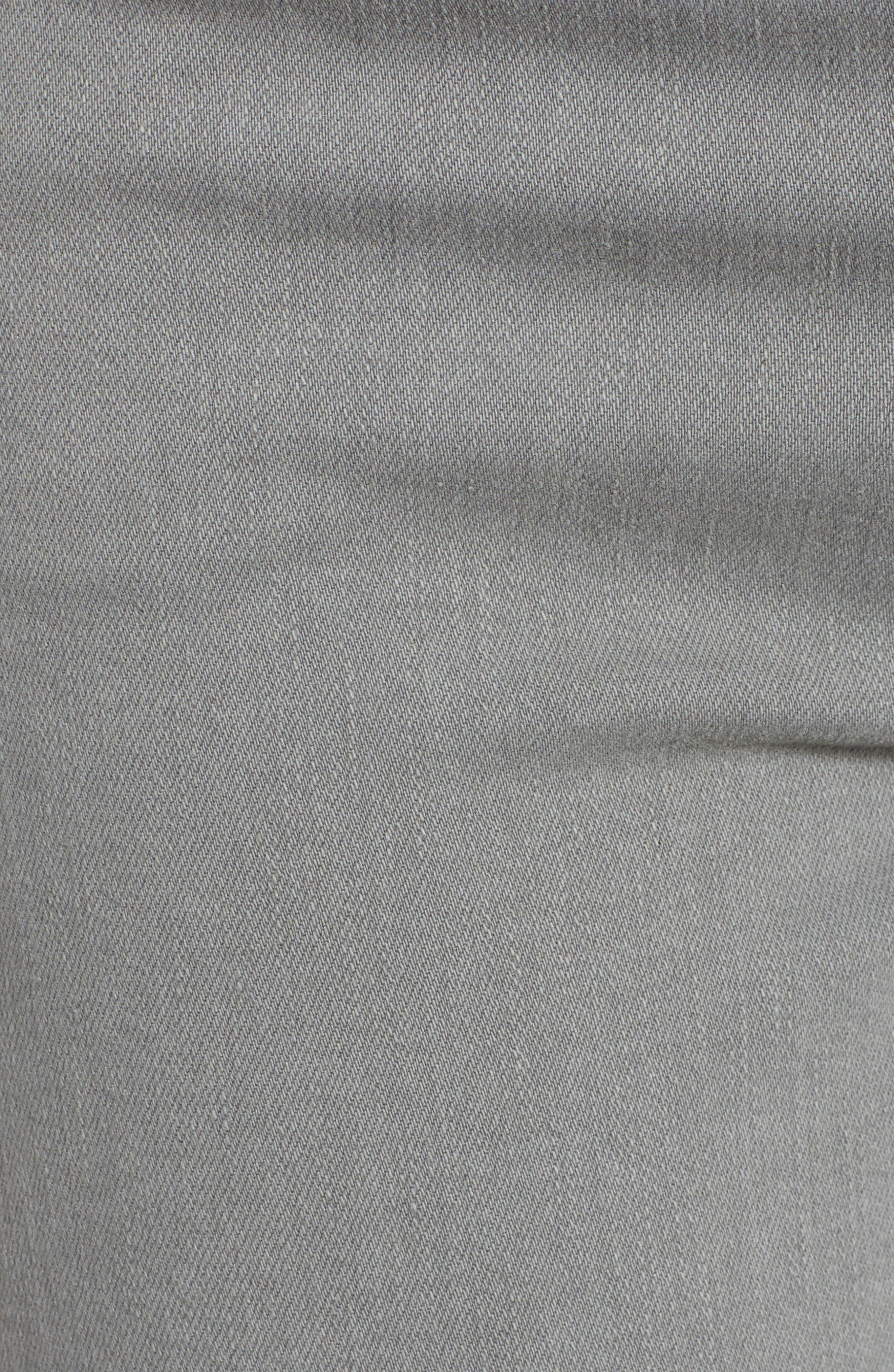 Sierra High Waist Ankle Skinny Pants,                             Alternate thumbnail 6, color,                             GREY