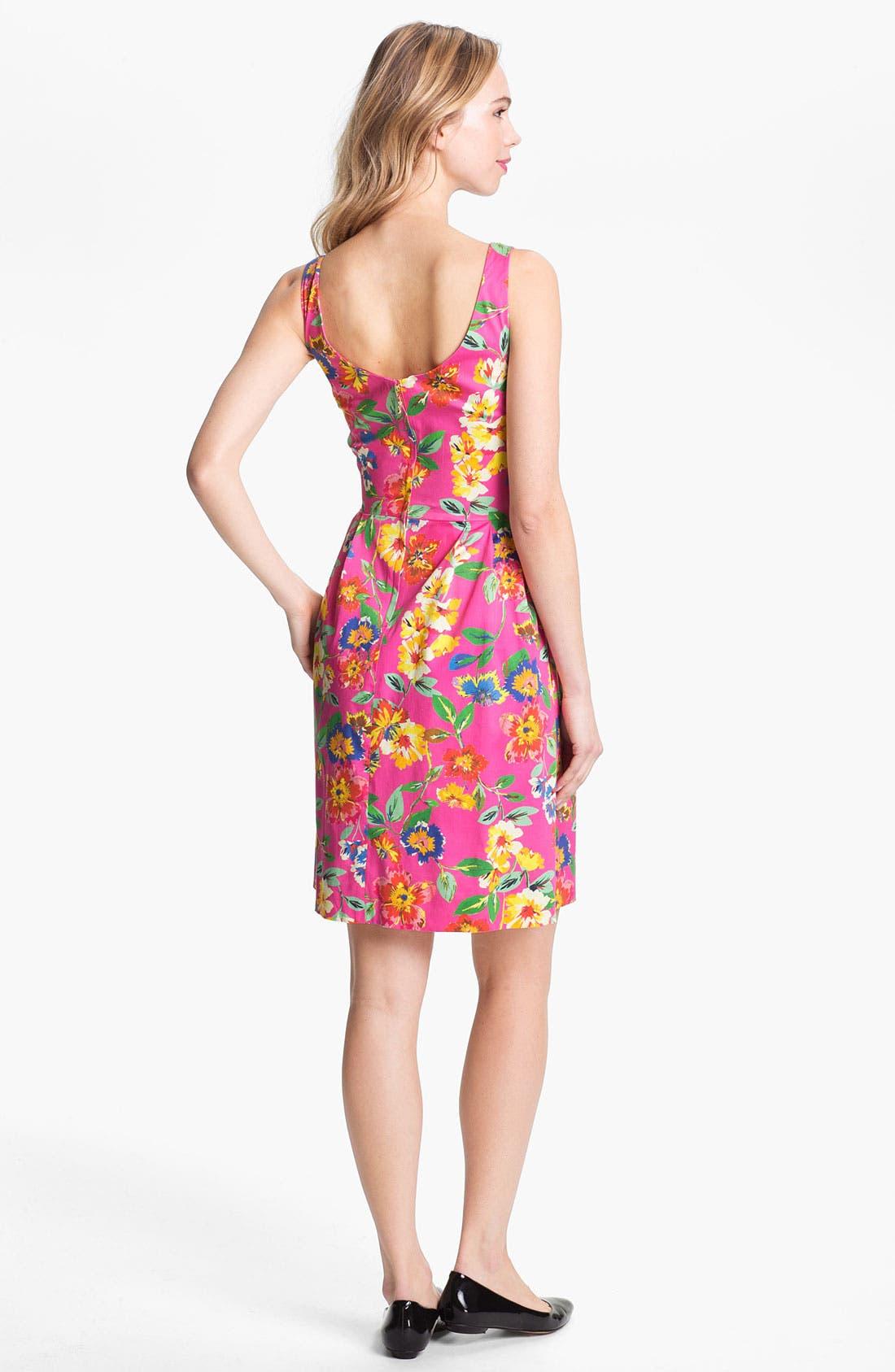 'sonja' stretch cotton fit & flare dress,                             Alternate thumbnail 3, color,                             650