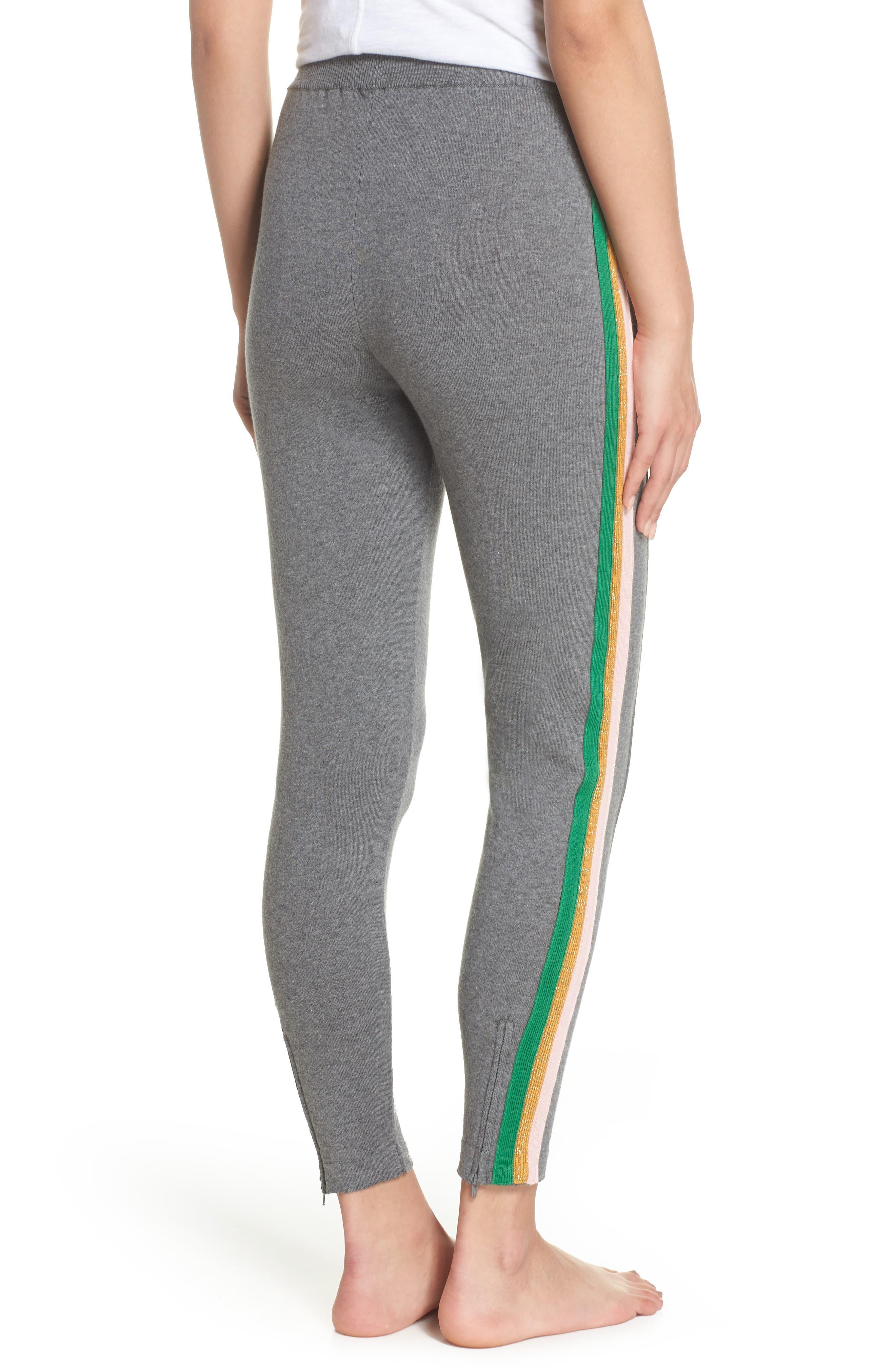 Rainbow Stripe Crop Sweatpants,                             Alternate thumbnail 2, color,