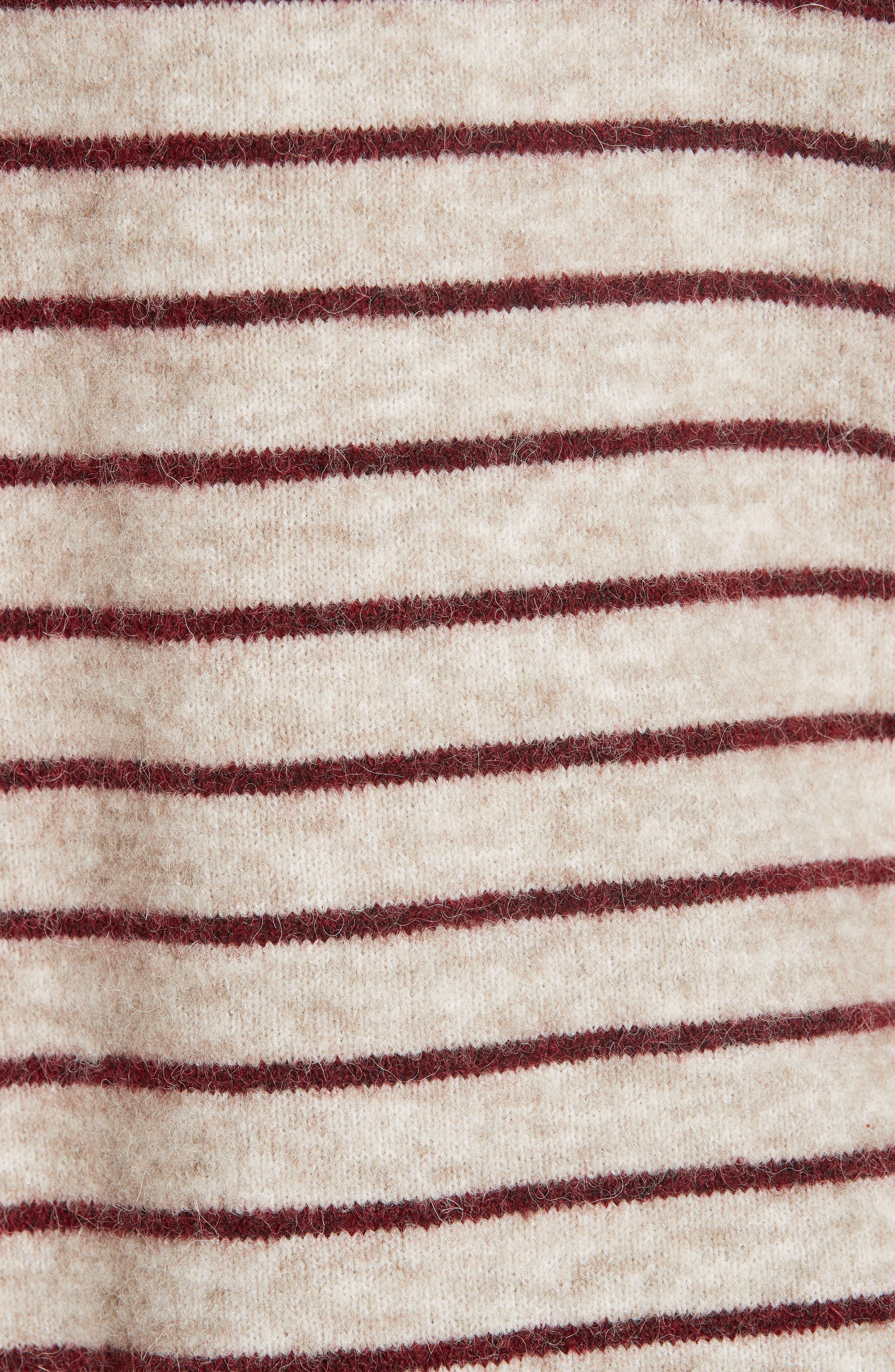 Artaud Stripe Sweater,                             Alternate thumbnail 5, color,                             BEIGE
