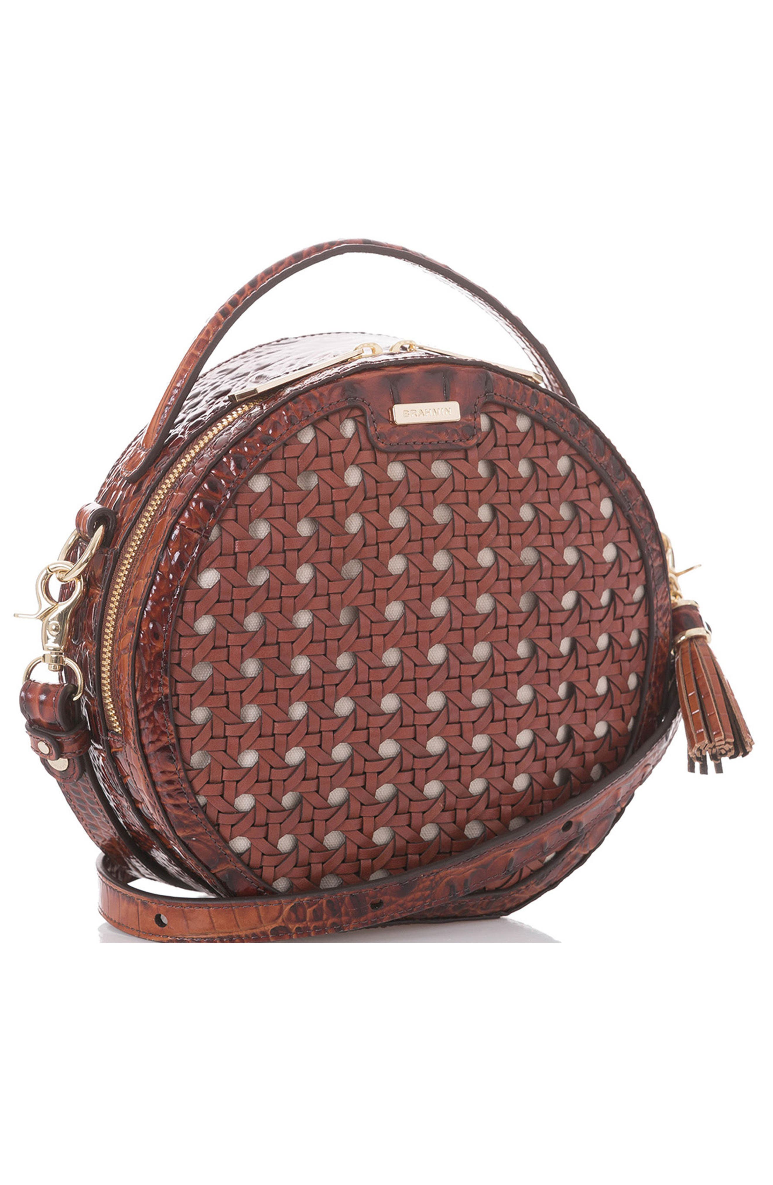 Lane Croc Embossed Leather Crossbody Bag,                             Alternate thumbnail 9, color,