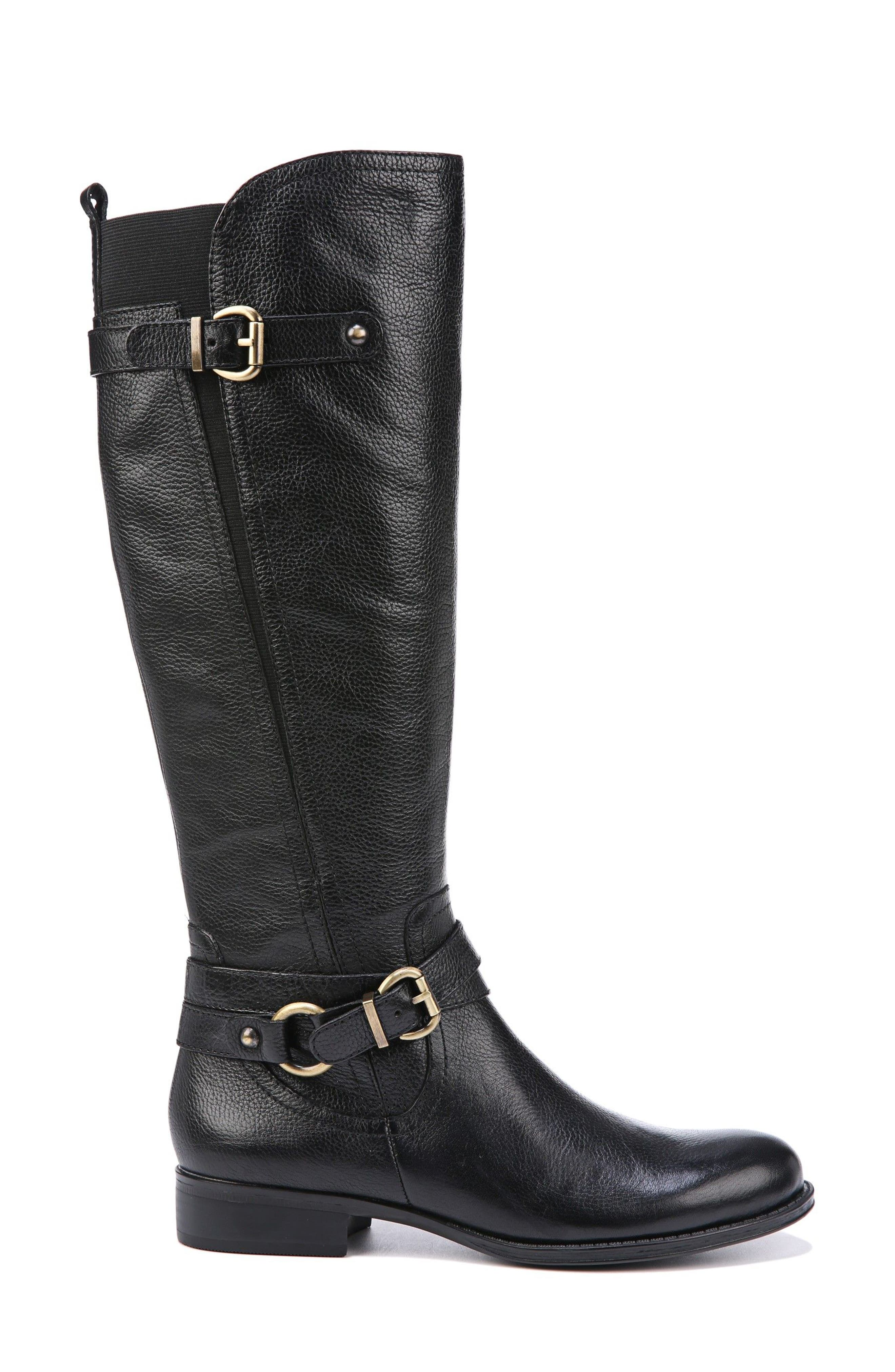 Jodee Knee High Boot,                             Alternate thumbnail 3, color,                             BLACK LEATHER