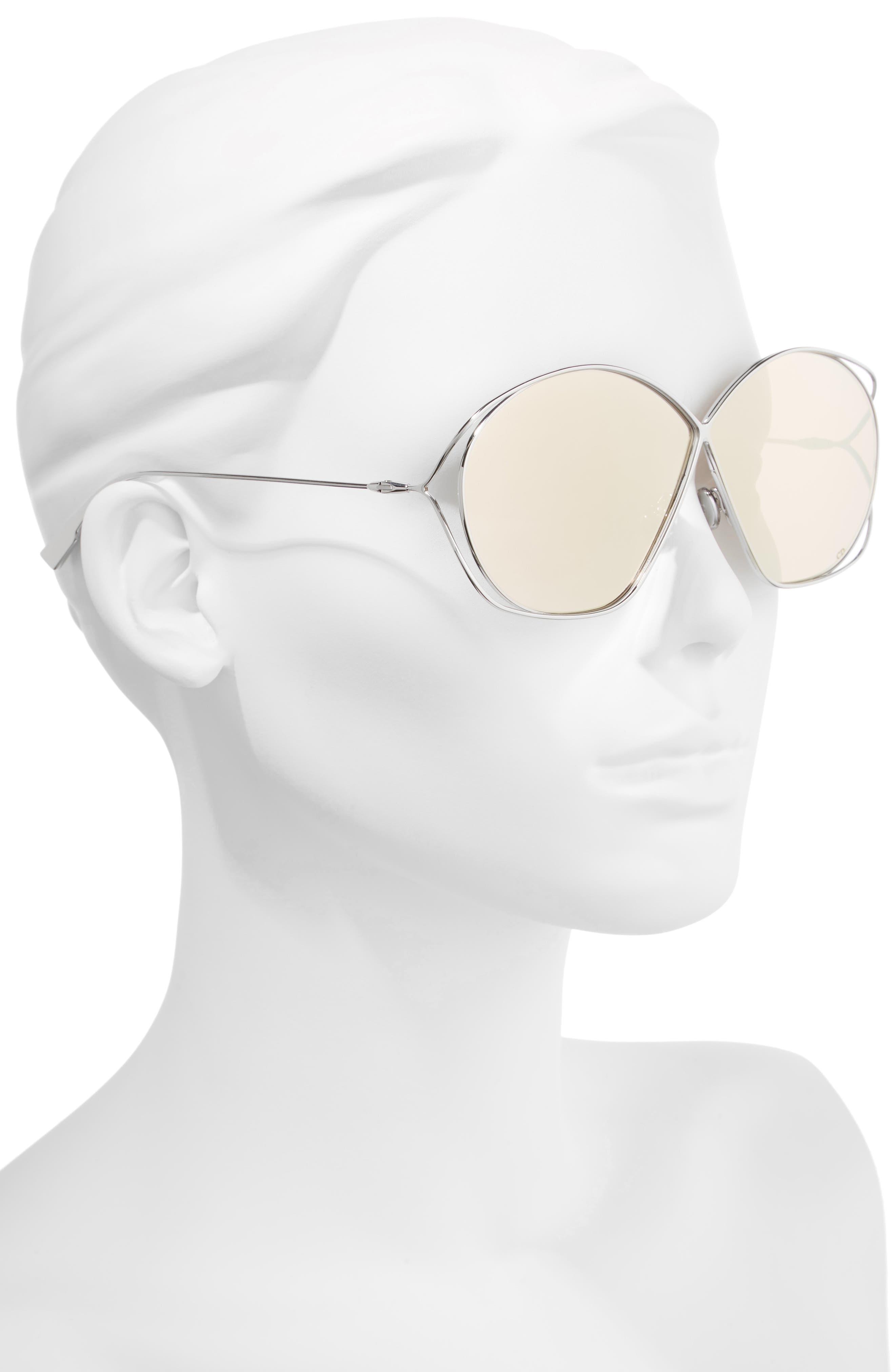 Stellaire 2 68mm Oversize Butterfly Sunglasses,                             Alternate thumbnail 2, color,                             PALLADIUM