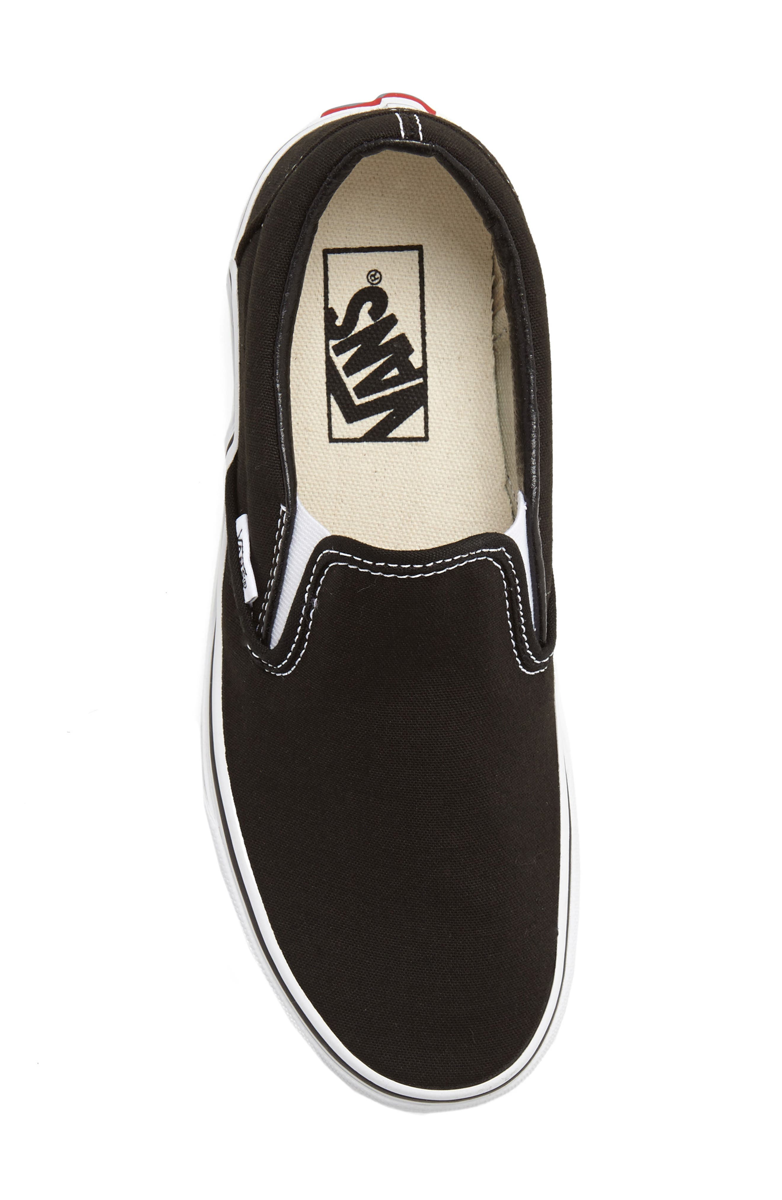 Classic Slip-On Sneaker,                             Alternate thumbnail 3, color,                             BLACK