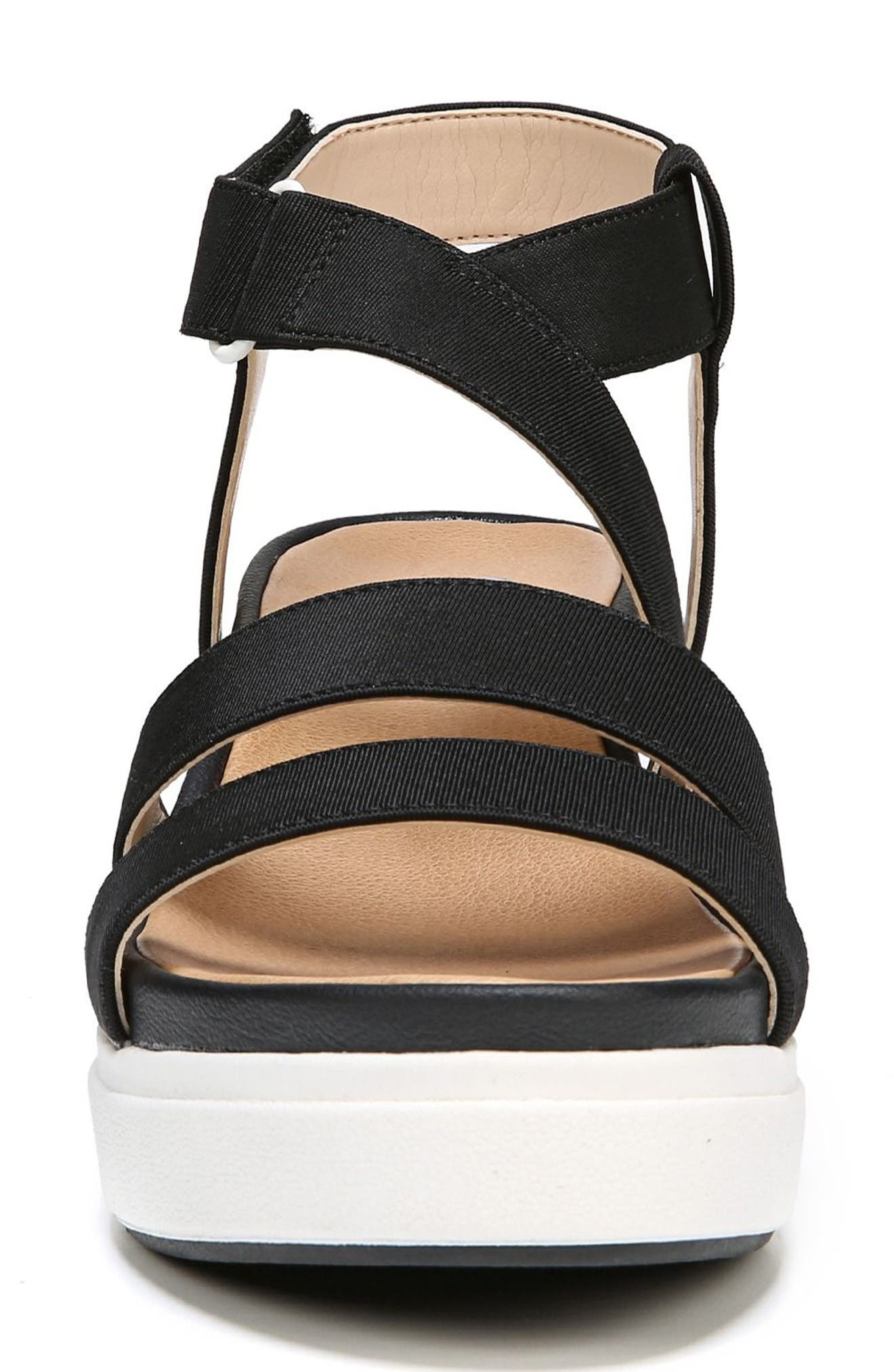 Social Wedge Sandal,                             Alternate thumbnail 4, color,                             BLACK