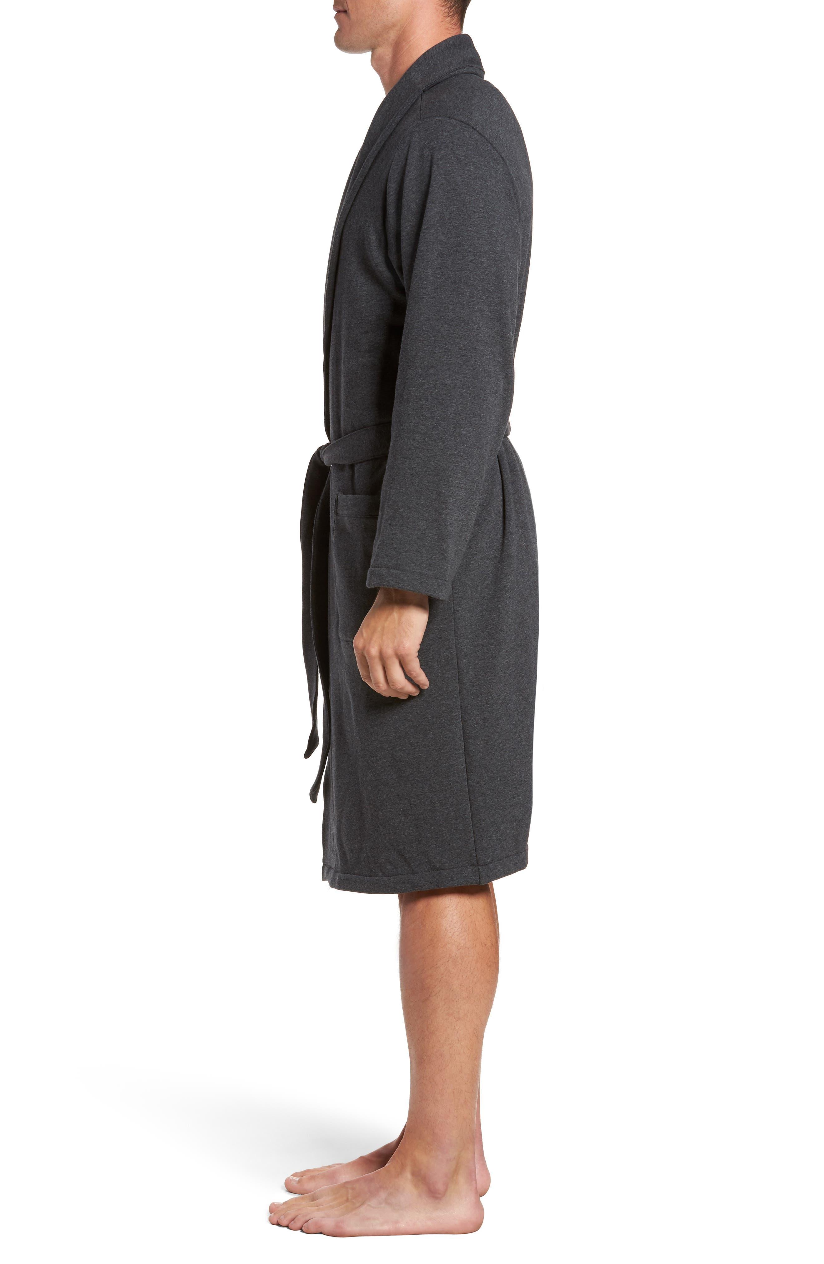 Jersey Fleece Robe,                             Alternate thumbnail 3, color,                             030