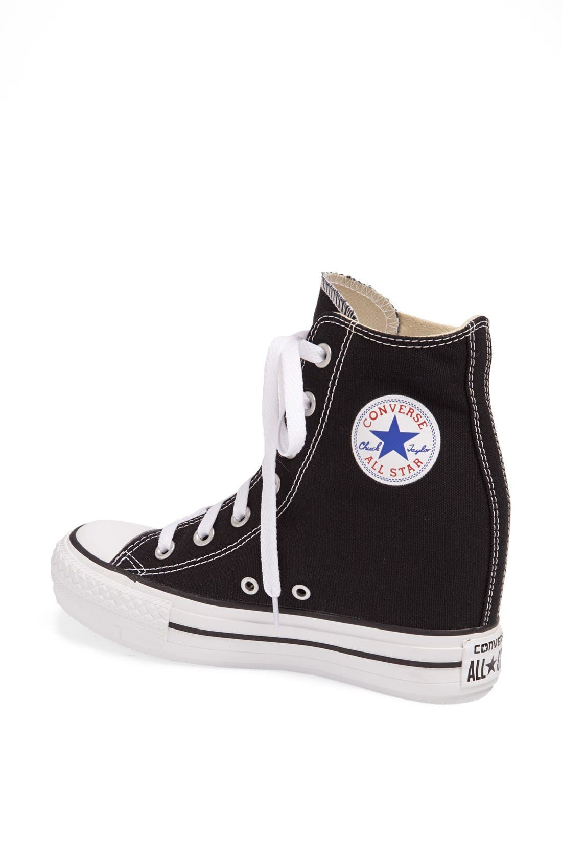 Chuck Taylor<sup>®</sup> All Star<sup>®</sup> Hidden Wedge Platform High-Top Sneaker,                             Alternate thumbnail 2, color,                             001