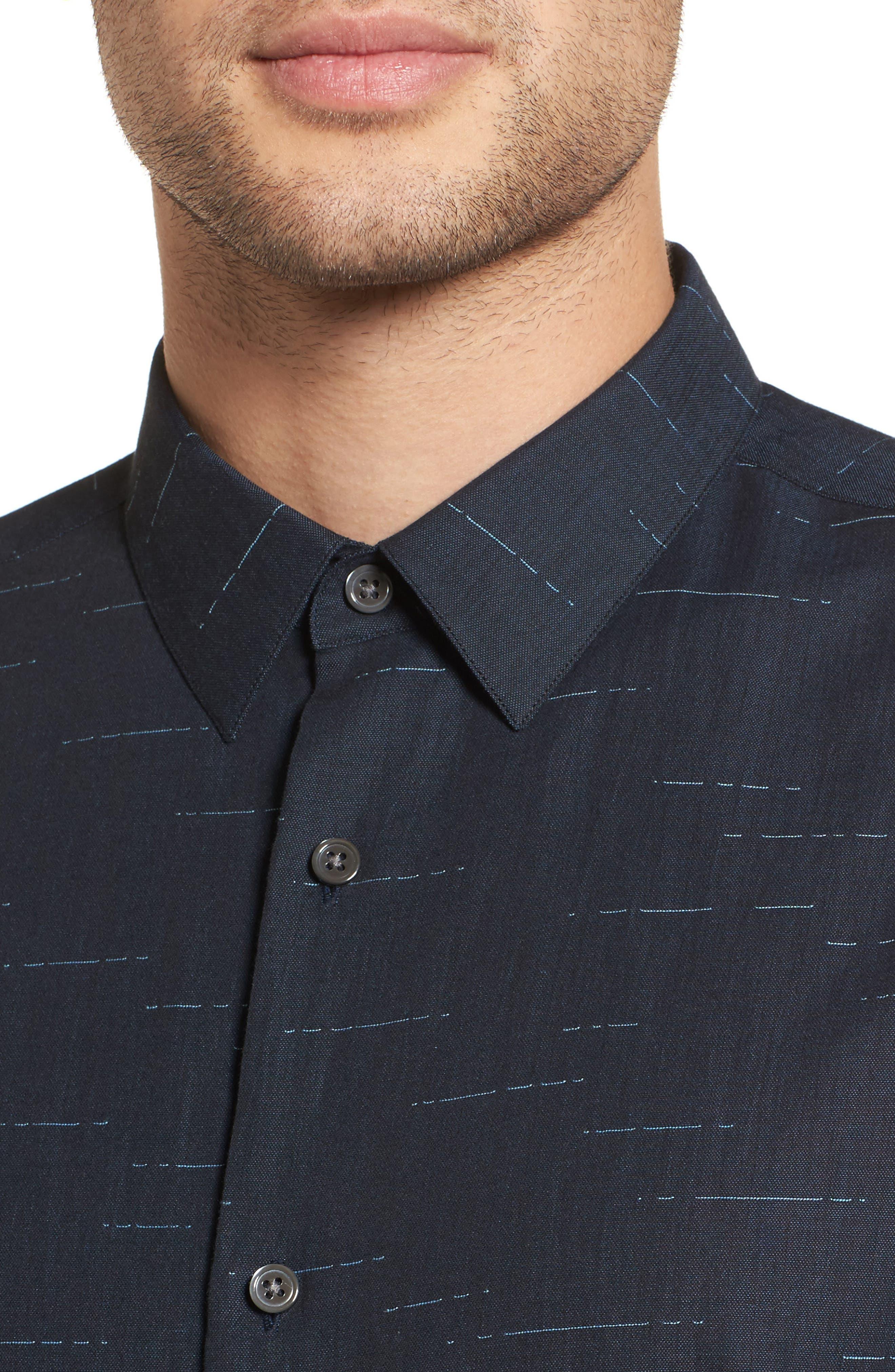 Tait Trim Fit Print Sport Shirt,                             Alternate thumbnail 4, color,                             497