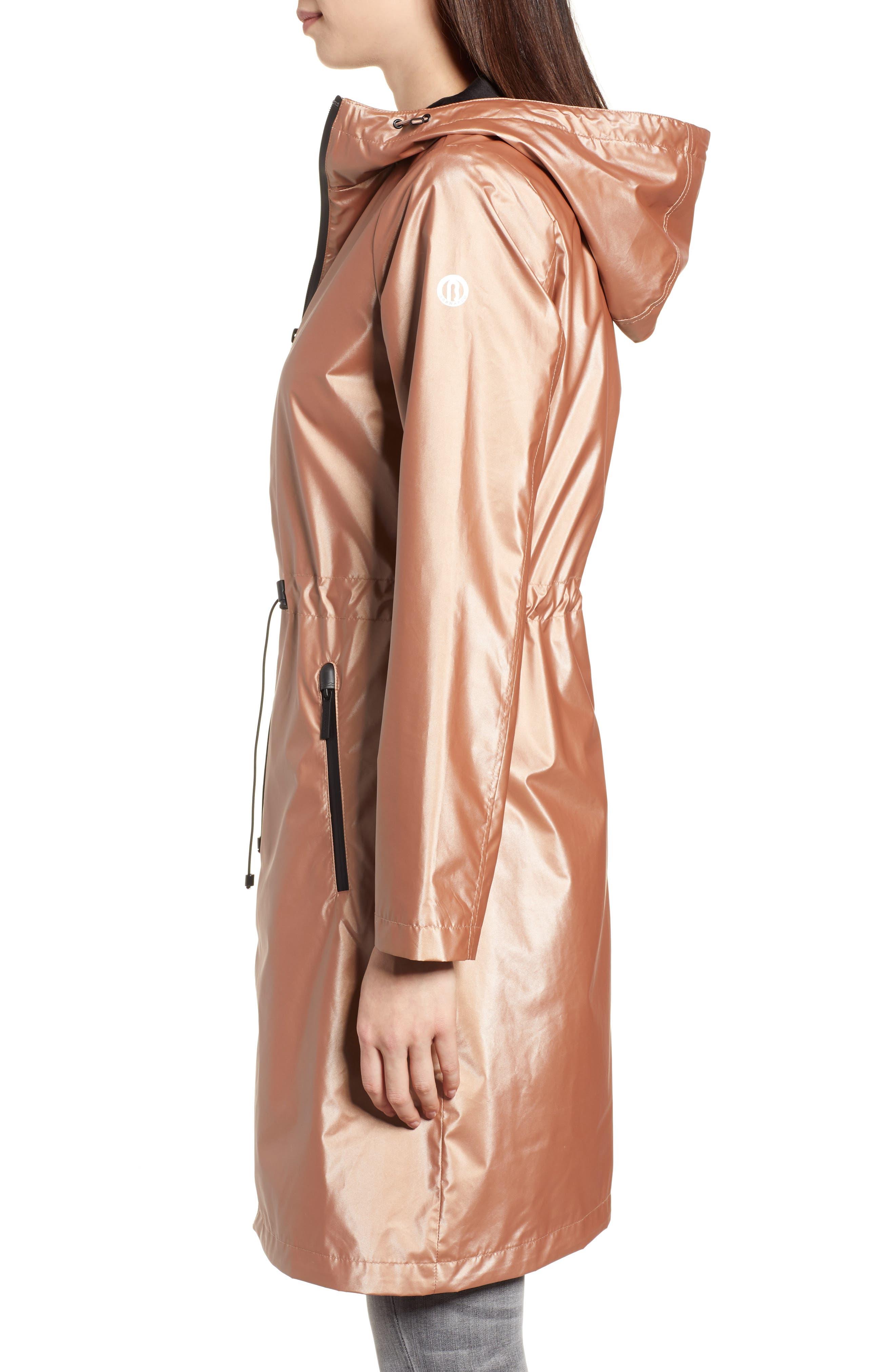Metallic Rain Jacket,                             Alternate thumbnail 3, color,                             660