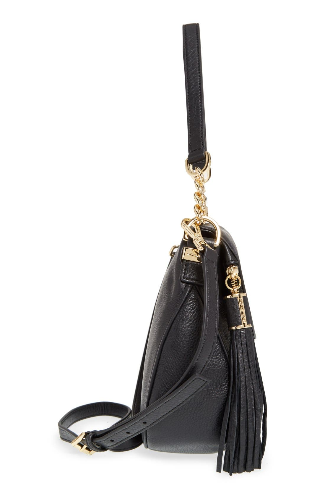 'Bedford Tassel - Medium' Convertible Leather Shoulder Bag,                             Alternate thumbnail 3, color,                             005