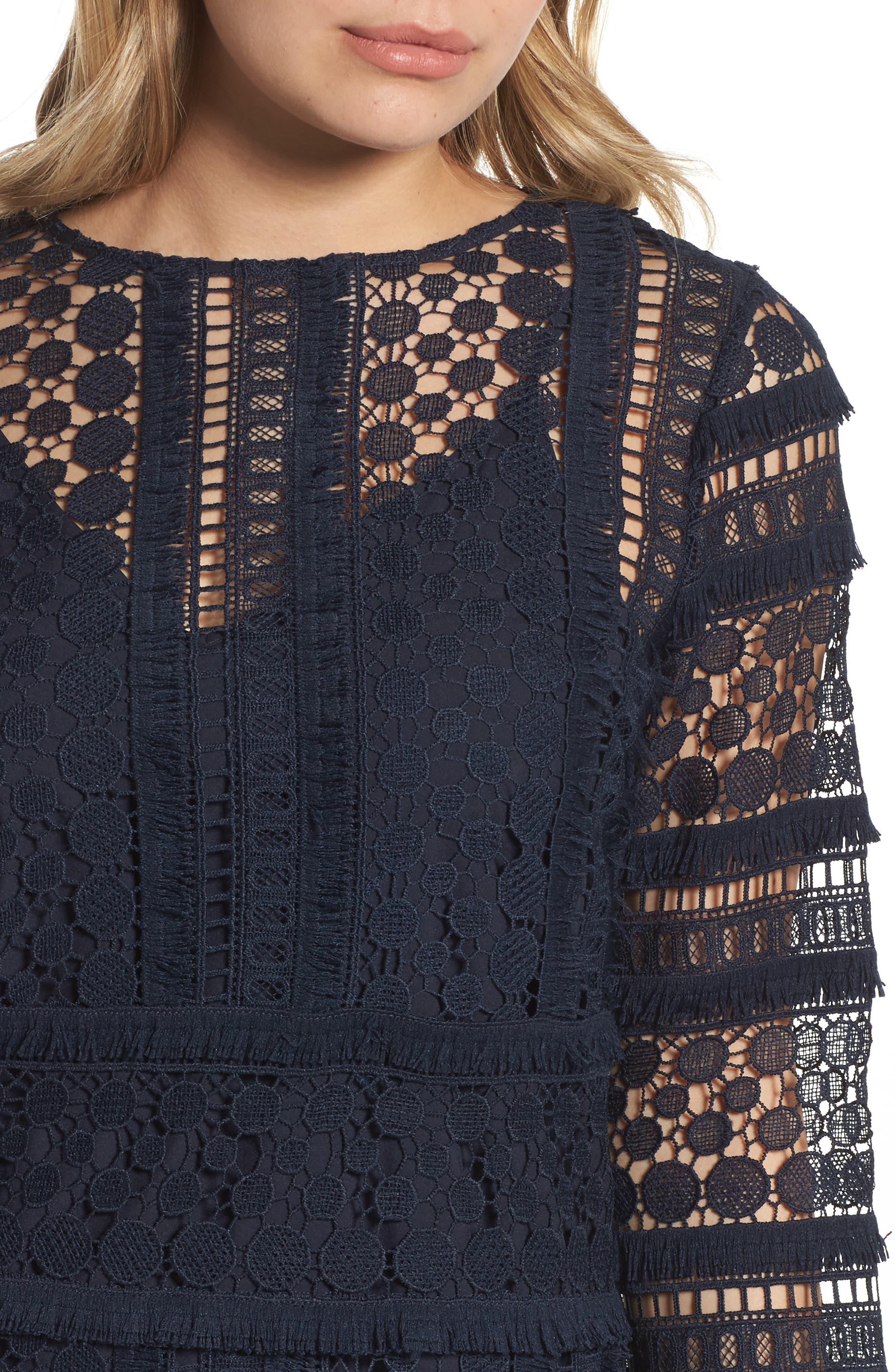 Lace Sheath Dress,                             Alternate thumbnail 4, color,                             419