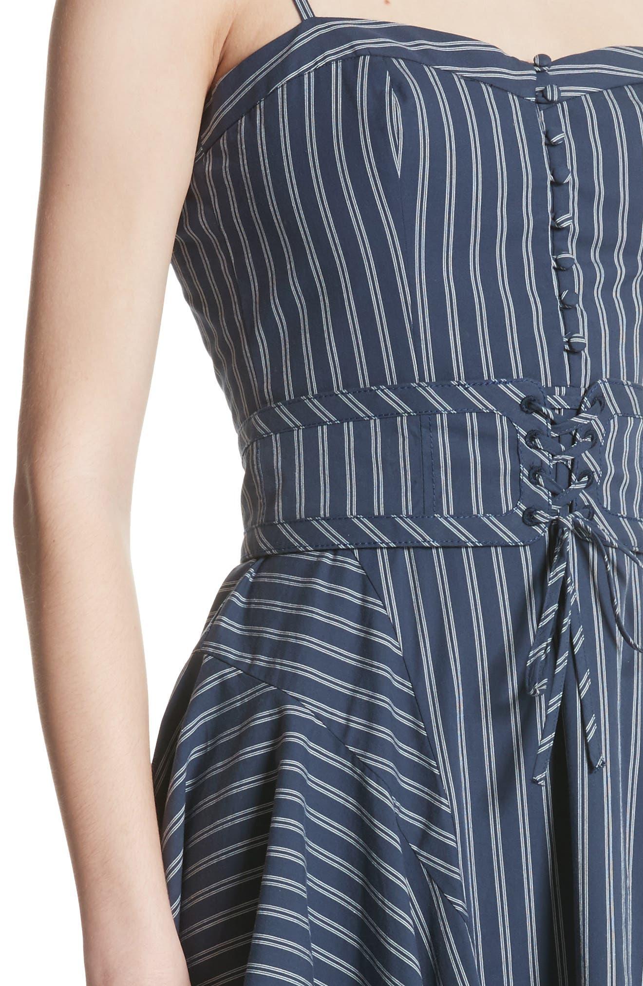 Ronit Fit & Flare Dress,                             Alternate thumbnail 4, color,                             410