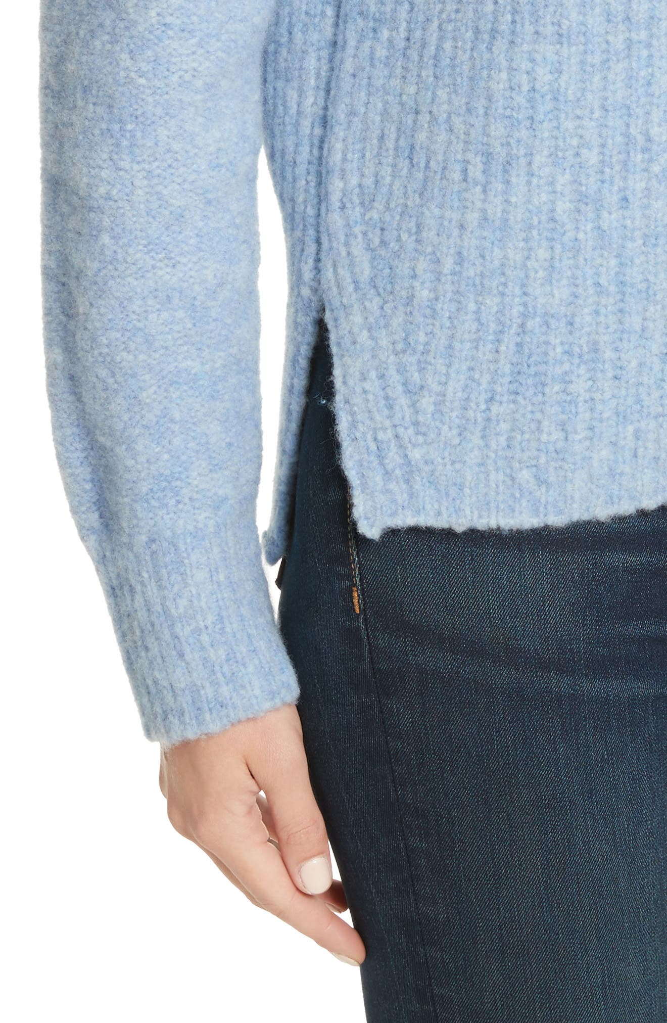 Francie Merino Wool Blend Sweater,                             Alternate thumbnail 4, color,                             455