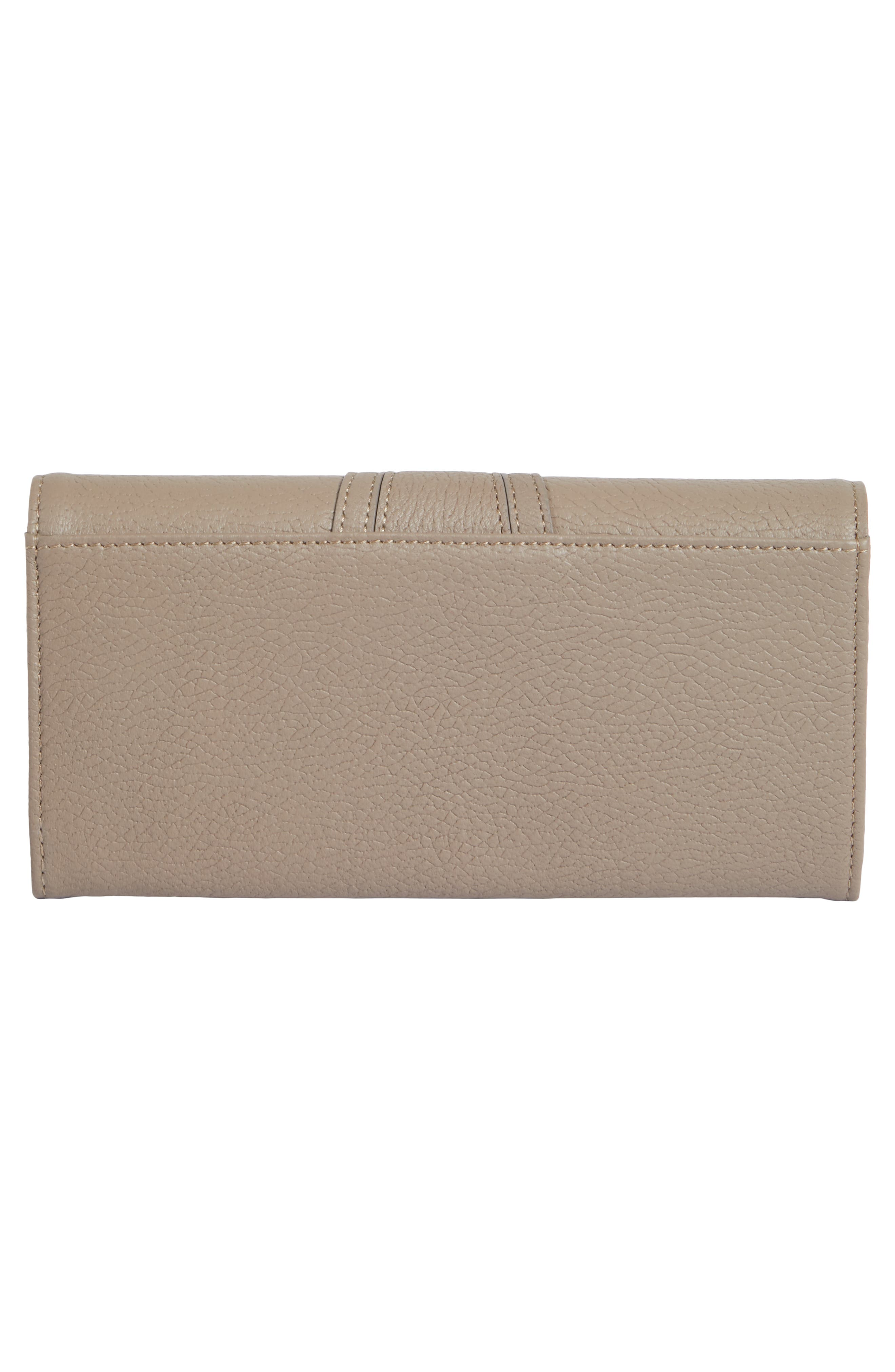 Hana Leather Wallet,                             Alternate thumbnail 4, color,                             MOTTY GREY