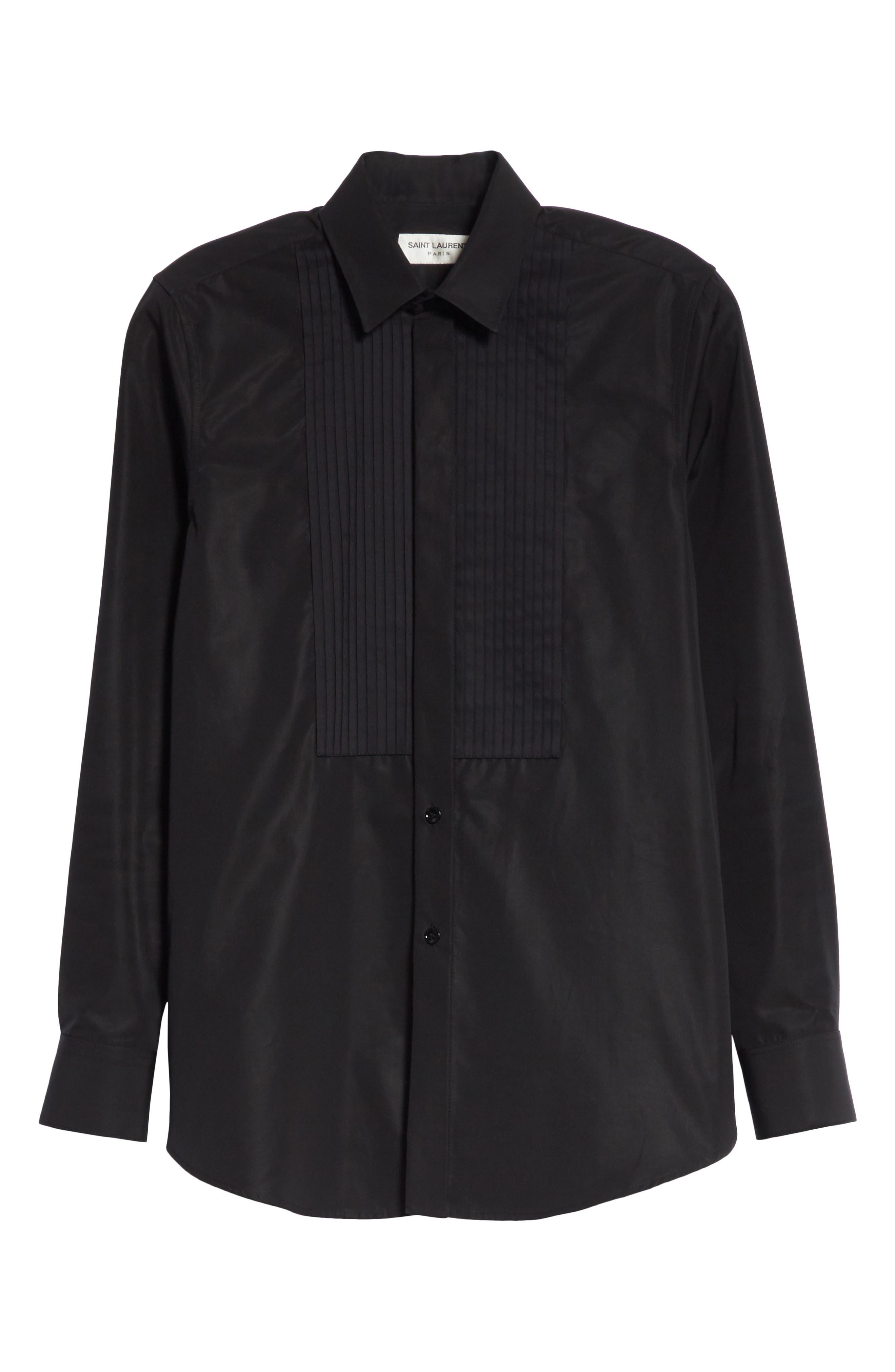 Cotton Tuxedo Shirt,                             Alternate thumbnail 6, color,                             001