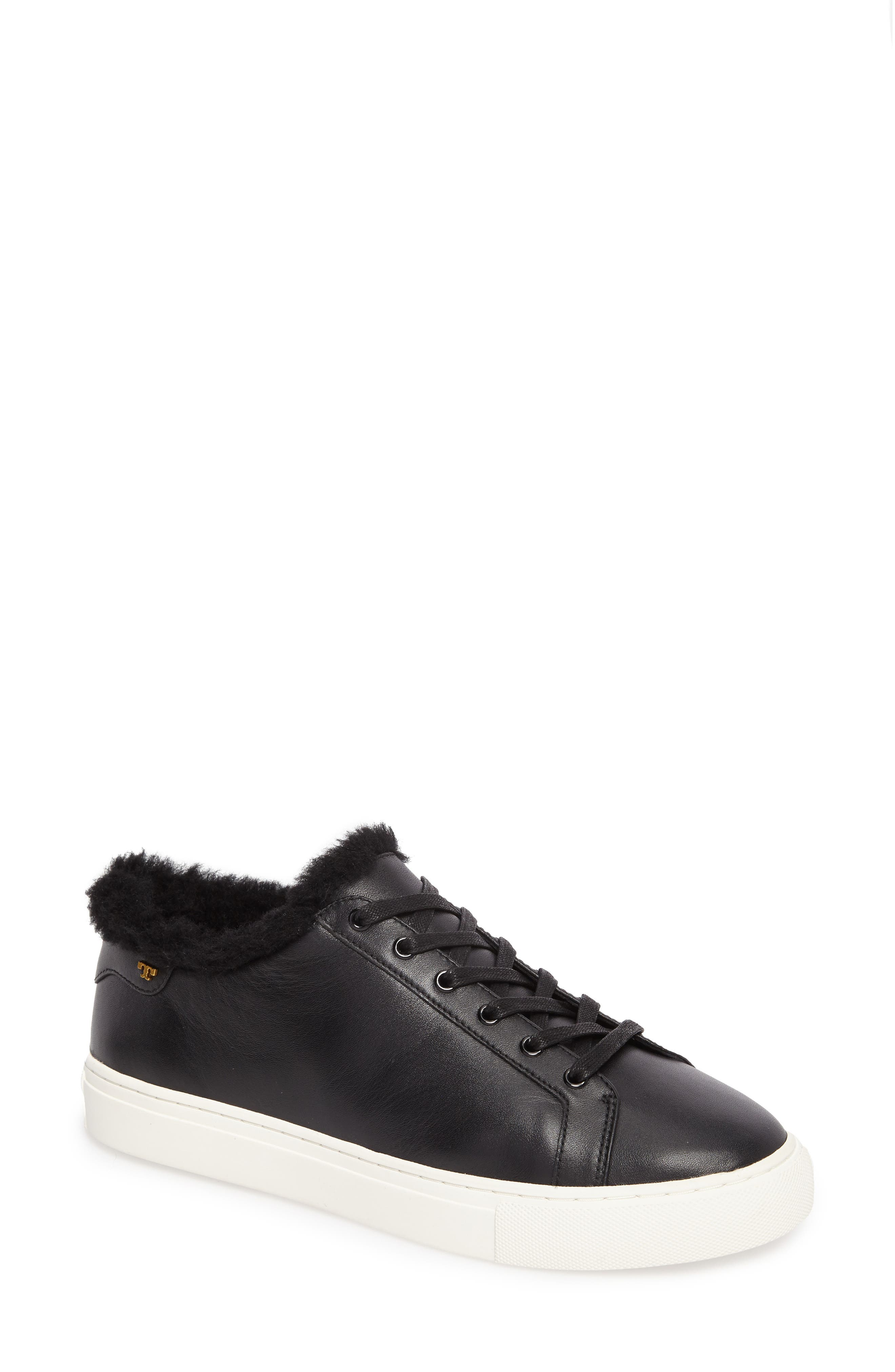 Lawrence Genuine Shearling Lined Sneaker,                         Main,                         color, 001