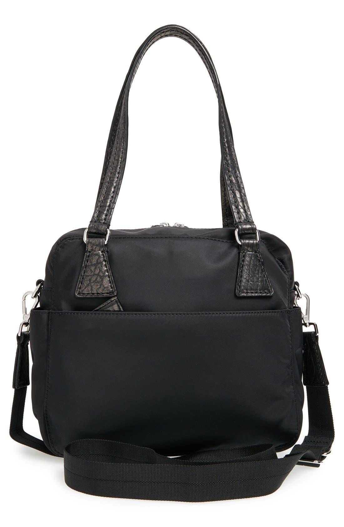 'Small Roxy' Bedford Nylon Shoulder Bag,                             Alternate thumbnail 3, color,                             001