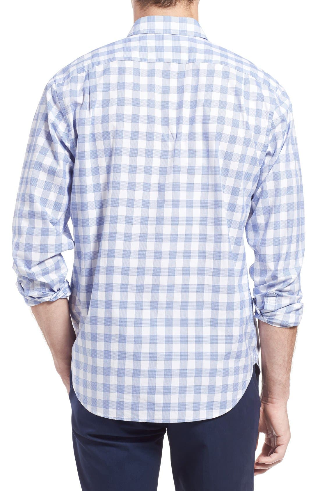 Slim Fit Check Sport Shirt,                             Alternate thumbnail 5, color,                             400