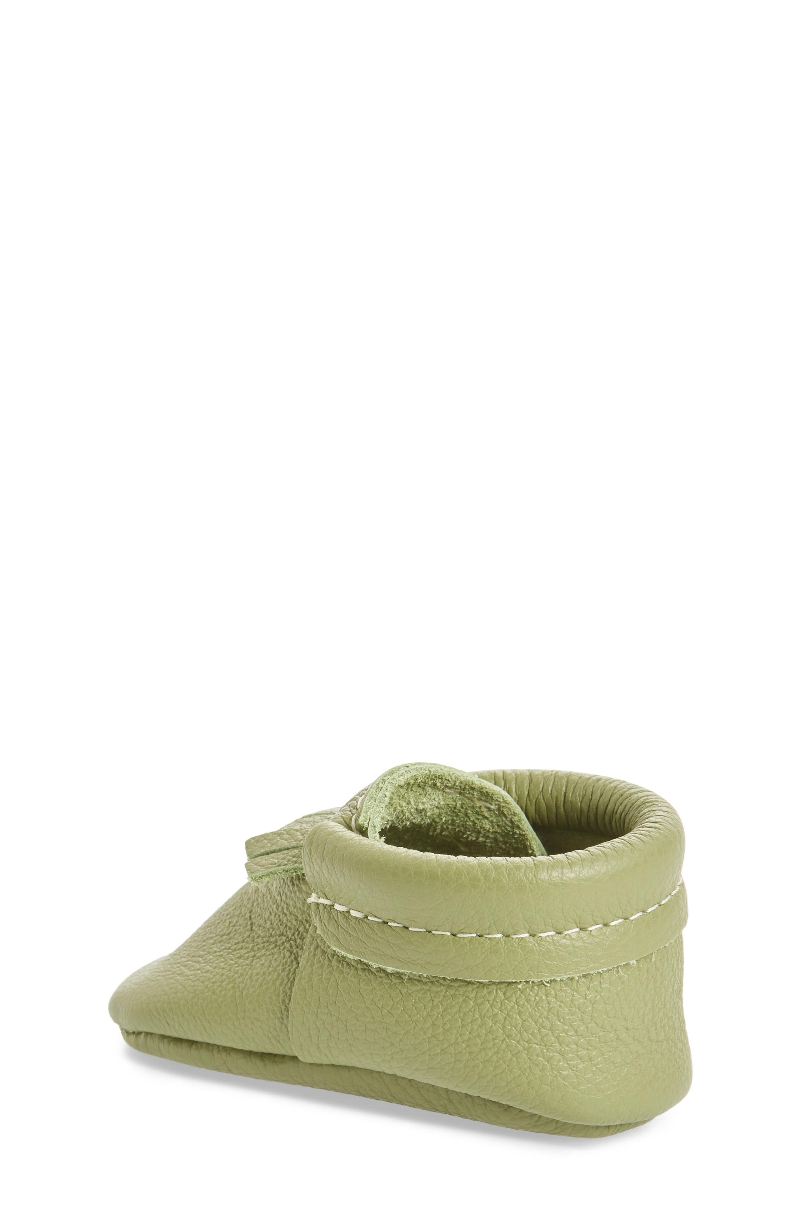 Leather Moccasin,                             Alternate thumbnail 2, color,                             GREEN LEATHER