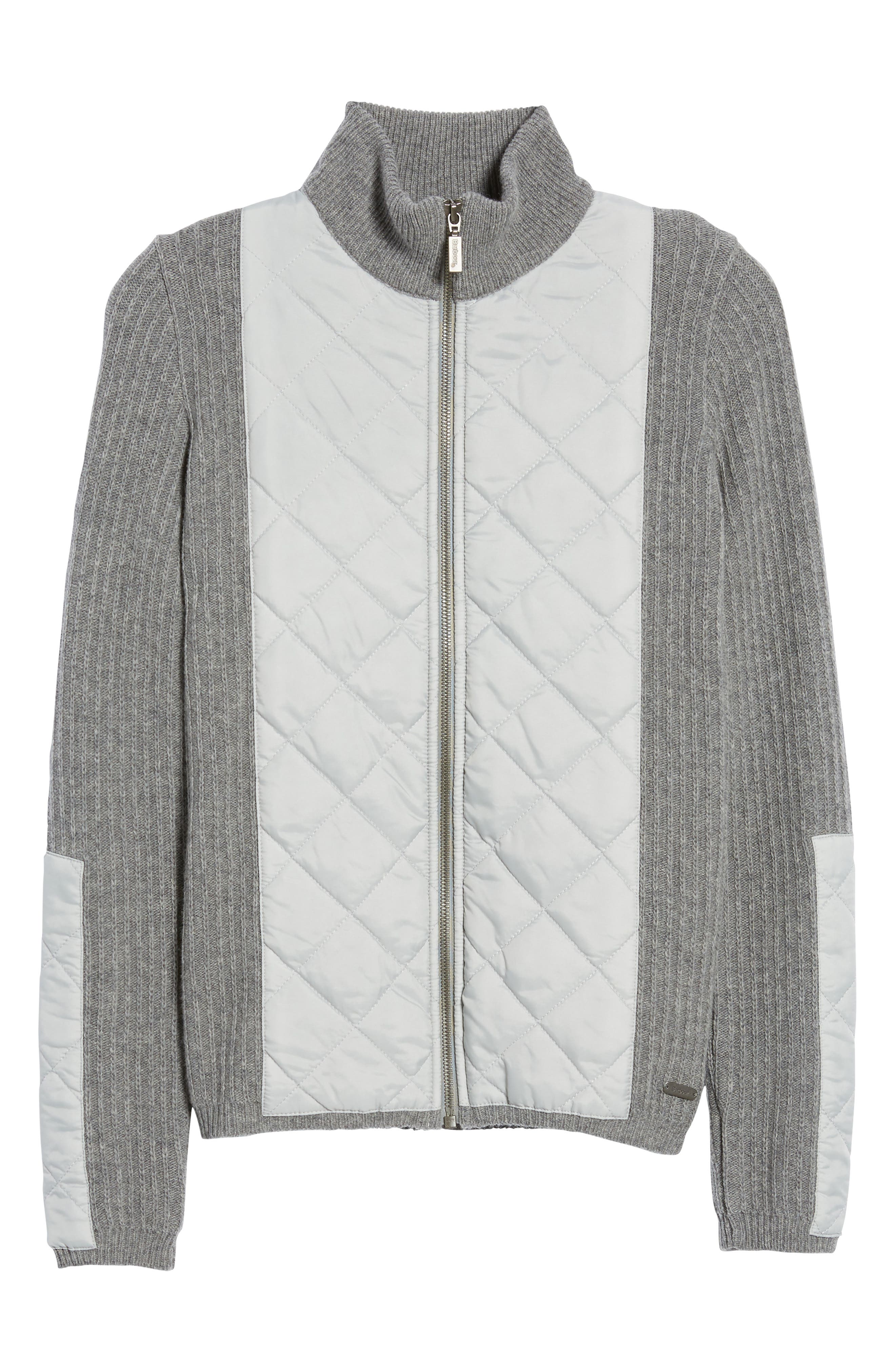 'Sporting' Zip Front Quilted Jacket,                             Alternate thumbnail 5, color,                             050