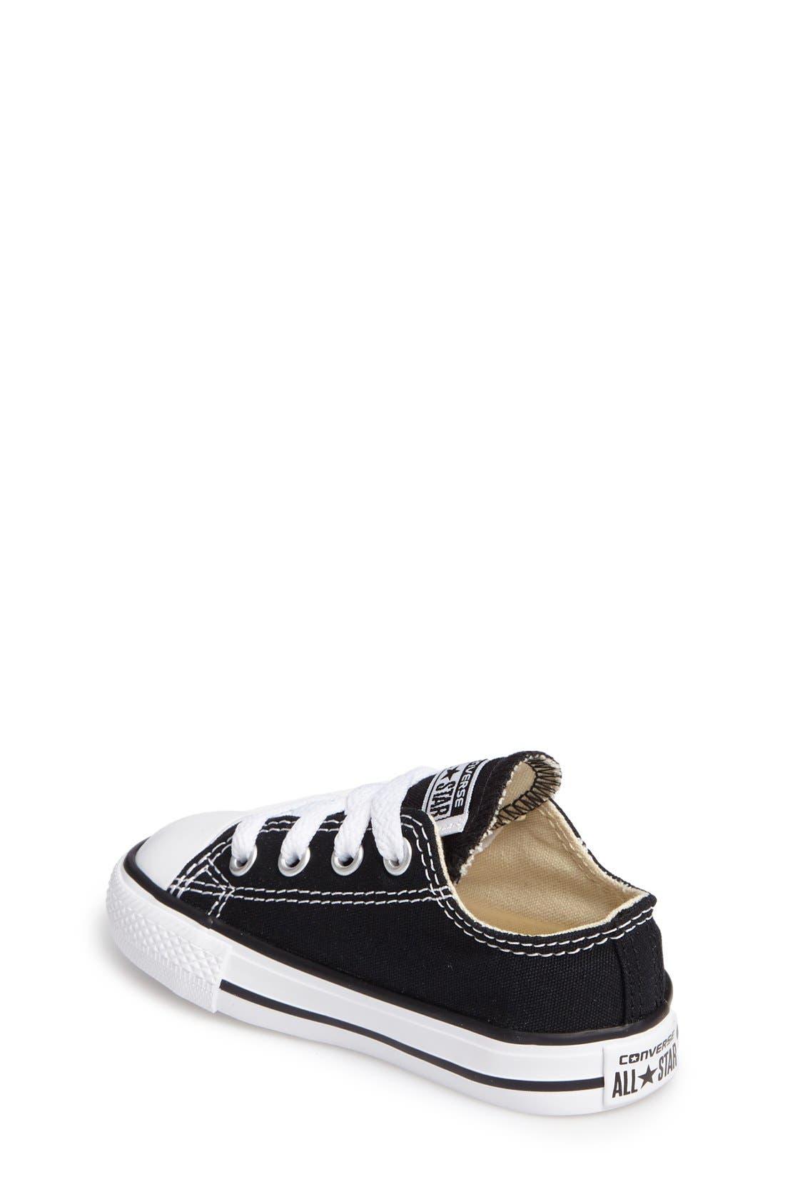CONVERSE,                             Chuck Taylor<sup>®</sup> Low Top Sneaker,                             Alternate thumbnail 2, color,                             BLACK