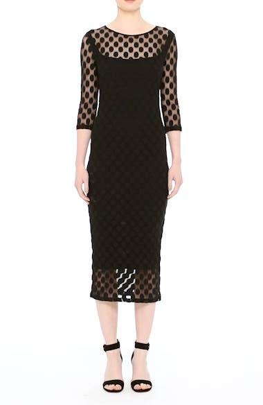Dot Print Tulle Midi Dress, video thumbnail